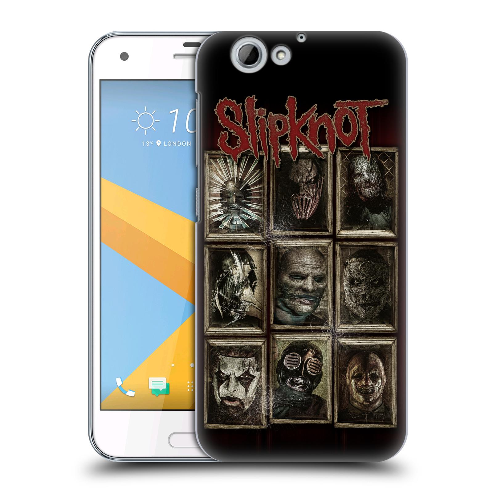 Plastové pouzdro na mobil HTC One A9s Head Case - Slipknot - Masky (Plastový kryt či obal na mobilní telefon licencovaným motivem Slipknot pro HTC One A9s (A9 s))
