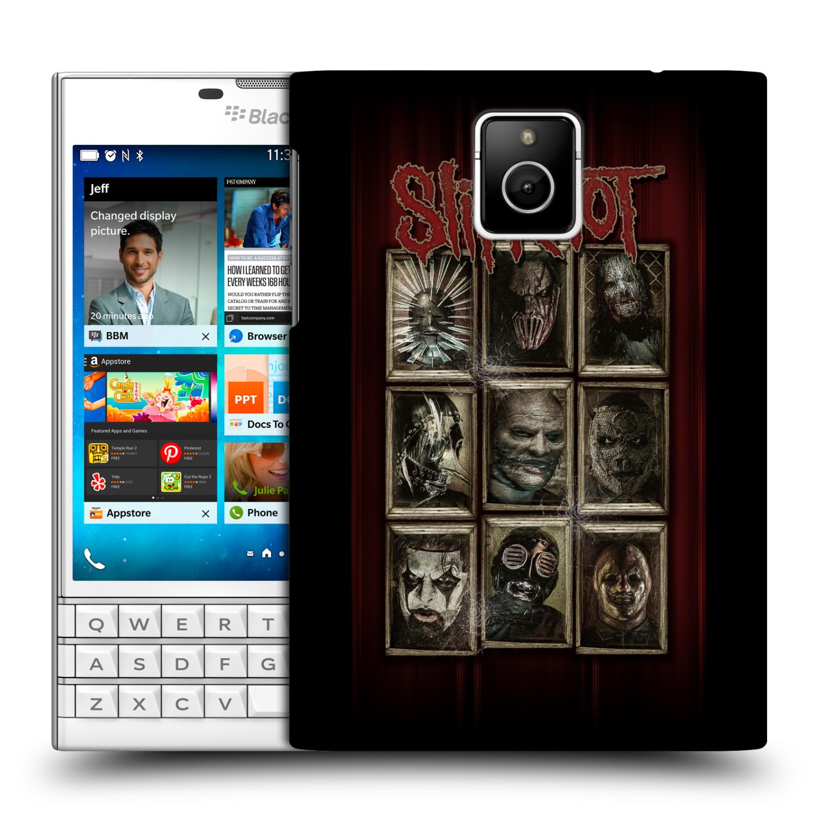 Plastové pouzdro na mobil Blackberry PASSPORT HEAD CASE Slipknot - Masky