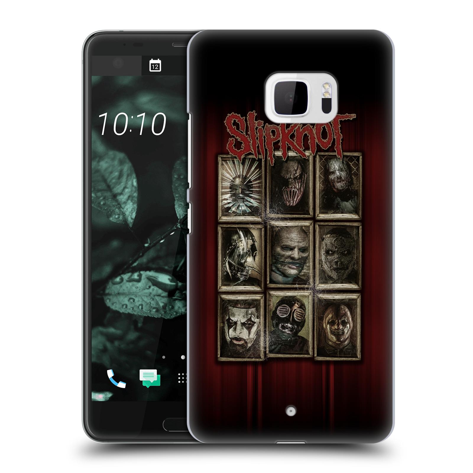 Plastové pouzdro na mobil HTC U Ultra Head Case - Slipknot - Masky (Plastový kryt či obal na mobilní telefon licencovaným motivem Slipknot pro HTC U Ultra (99HALT015-00))