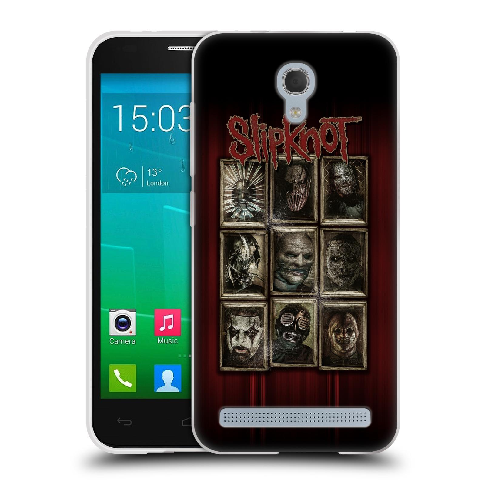 Silikonové pouzdro na mobil Alcatel One Touch Idol 2 Mini S 6036Y HEAD CASE Slipknot - Masky (Silikonový kryt či obal na mobilní telefon licencovaným motivem Slipknot pro Alcatel Idol 2 Mini S OT-6036Y)