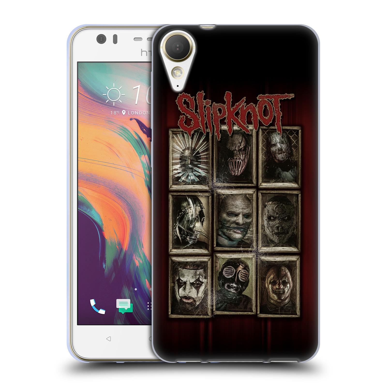 Silikonové pouzdro na mobil HTC Desire 10 Lifestyle - Head Case - Slipknot - Masky (Silikonový kryt či obal na mobilní telefon HTC Desire 10 Lifestyle s motivem Slipknot - Masky)