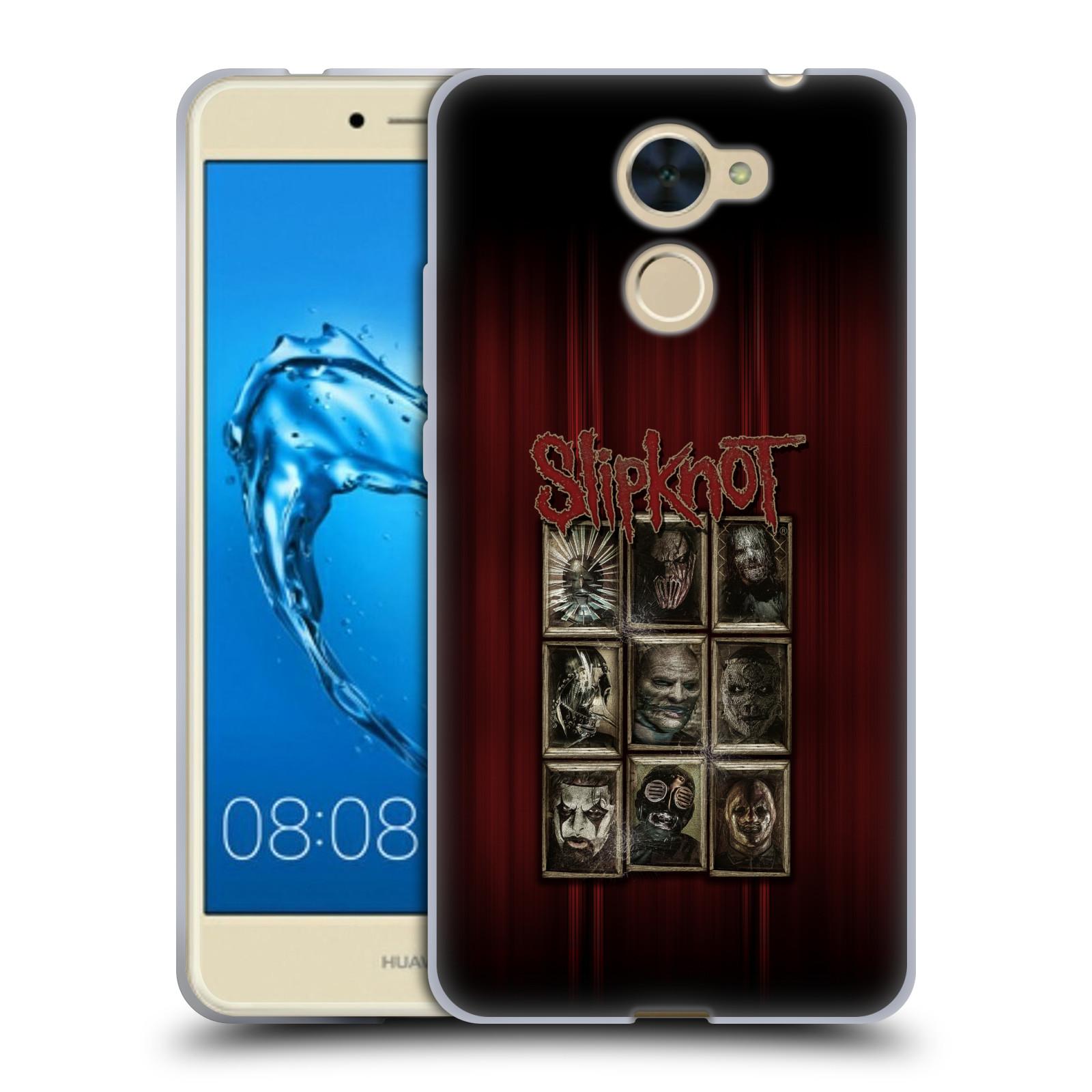 Silikonové pouzdro na mobil Huawei Y7 - Head Case - Slipknot - Masky (Silikonový kryt či obal na mobilní telefon Huawei Y7 / Huawei Y7 Prime (pouzdro má výřez na čtečku prstů, kterou obsahují některé verze) s motivem Slipknot - Masky)