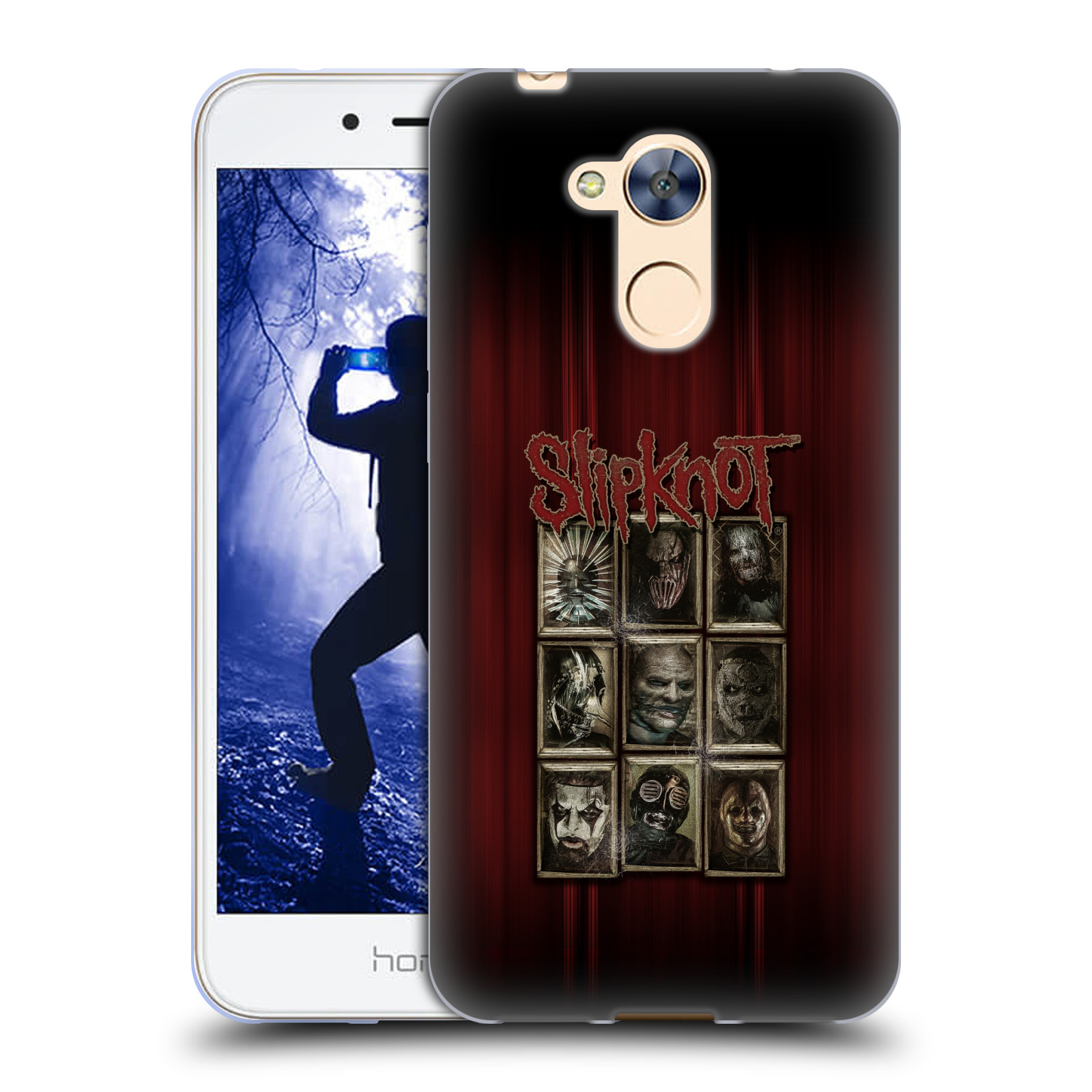 Silikonové pouzdro na mobil Honor 6A - Head Case - Slipknot - Masky (Silikonový kryt či obal na mobilní telefon Honor 6A (pouzdro má výřez na čtečku prstů, kterou obsahují některé verze) s motivem Slipknot - Masky)