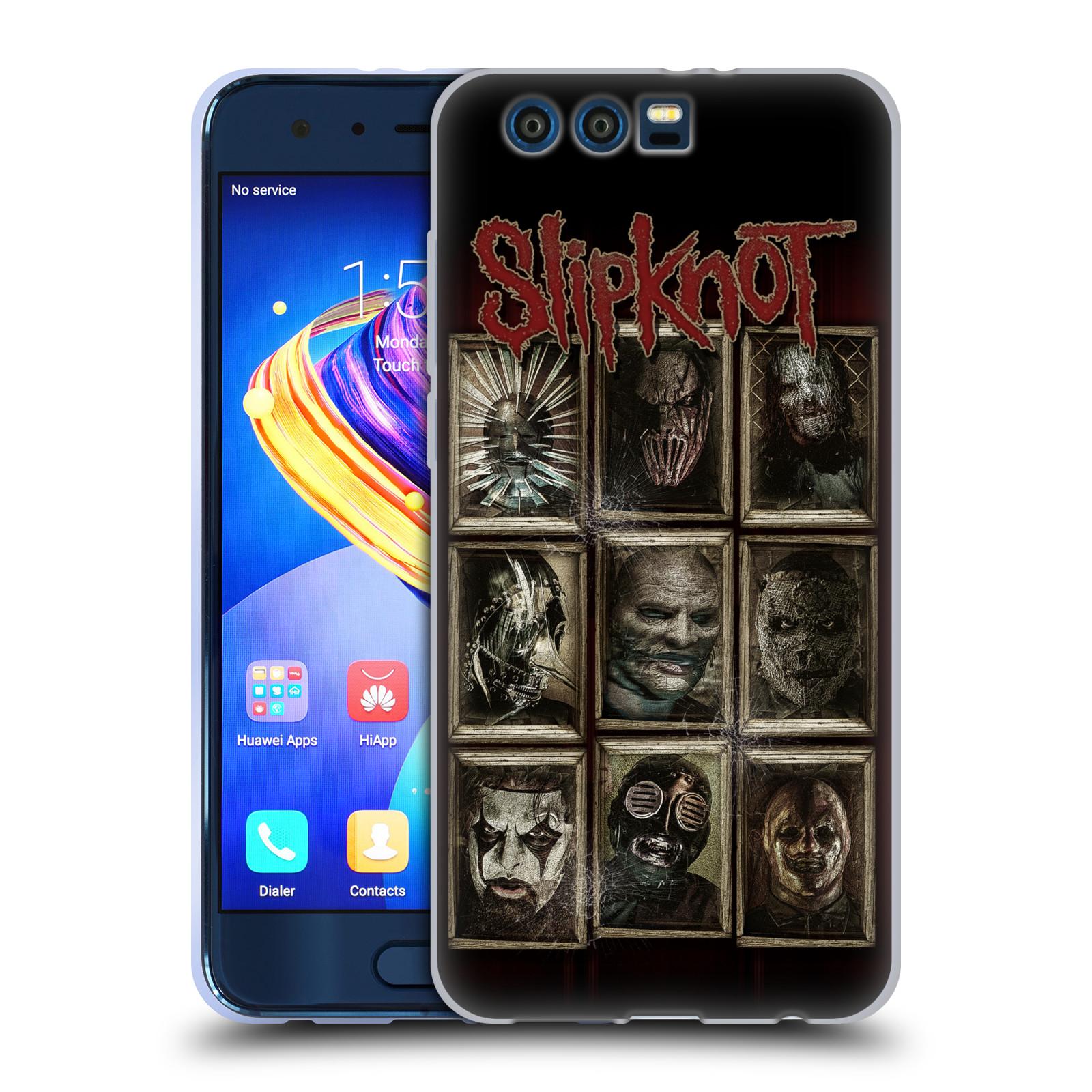 Silikonové pouzdro na mobil Honor 9 - Head Case - Slipknot - Masky (Silikonový kryt či obal na mobilní telefon Honor 9 s motivem Slipknot - Masky)