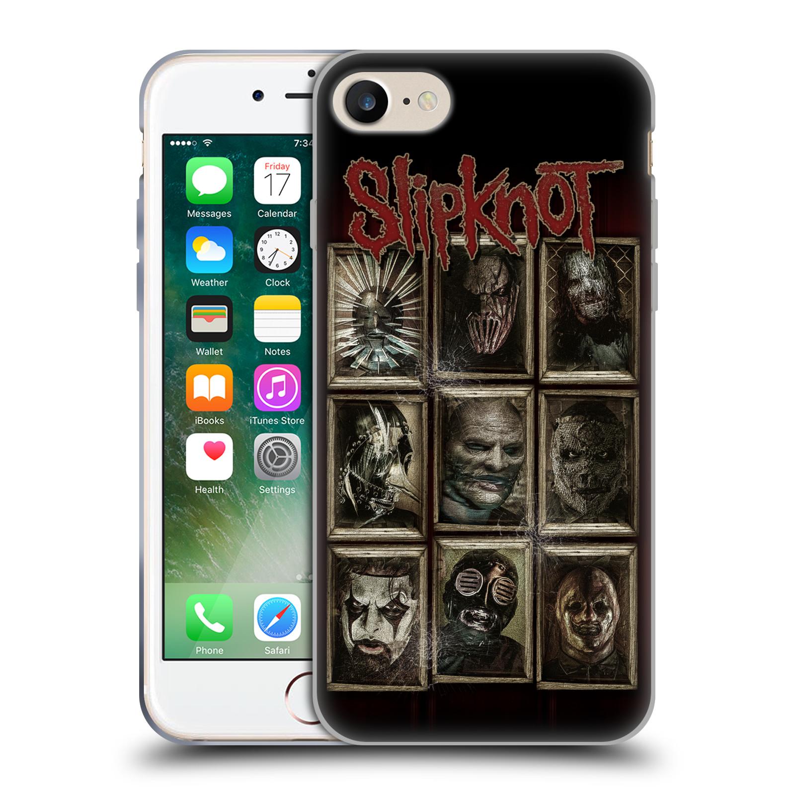 Silikonové pouzdro na mobil Apple iPhone 8 - Head Case - Slipknot - Masky (Silikonový kryt či obal na mobilní telefon Apple iPhone 8 s motivem Slipknot - Masky)