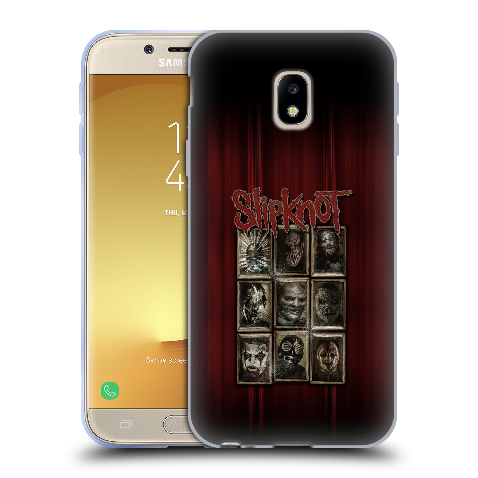 Silikonové pouzdro na mobil Samsung Galaxy J3 (2017) - Head Case - Slipknot - Masky (Silikonový kryt či obal na mobilní telefon Samsung Galaxy J3 2017 SM-J330F/DS s motivem Slipknot - Masky)