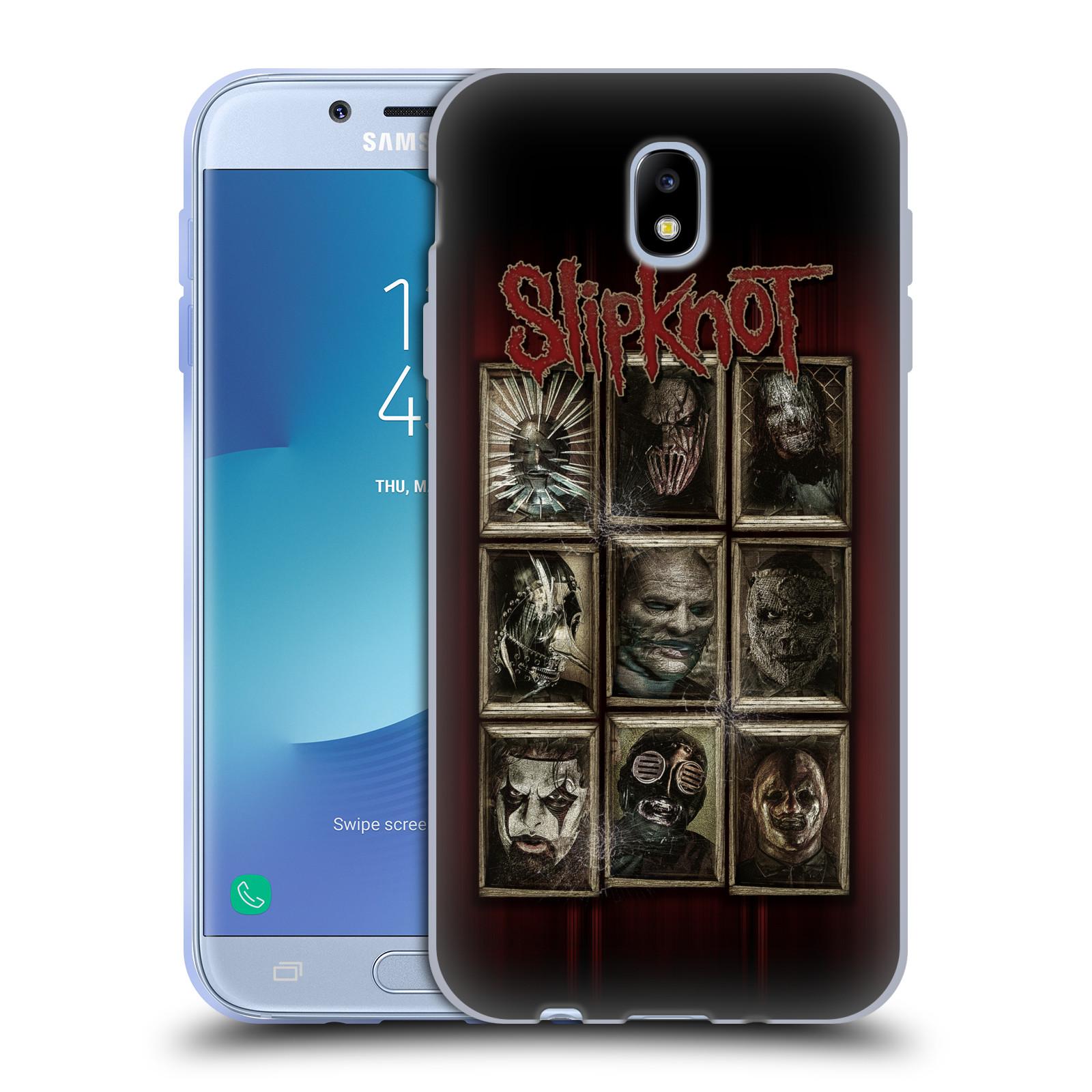 Silikonové pouzdro na mobil Samsung Galaxy J7 (2017) - Head Case - Slipknot - Masky (Silikonový kryt či obal na mobilní telefon Samsung Galaxy J7 2017 SM-J730F/DS s motivem Slipknot - Masky)