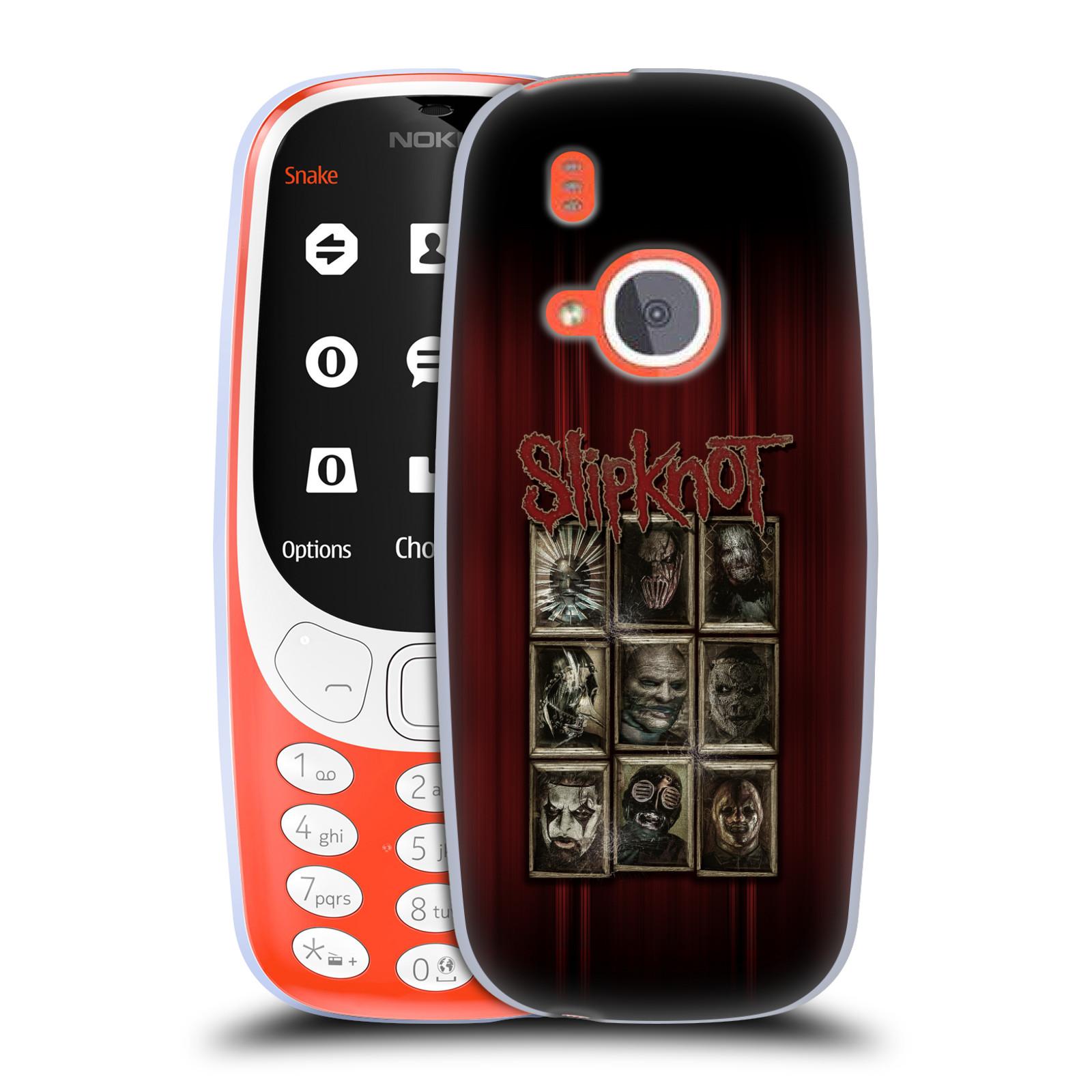 Silikonové pouzdro na mobil Nokia 3310 - Head Case - Slipknot - Masky (Silikonový kryt či obal na mobilní telefon Nokia 3310 (2017) s motivem Slipknot - Masky)