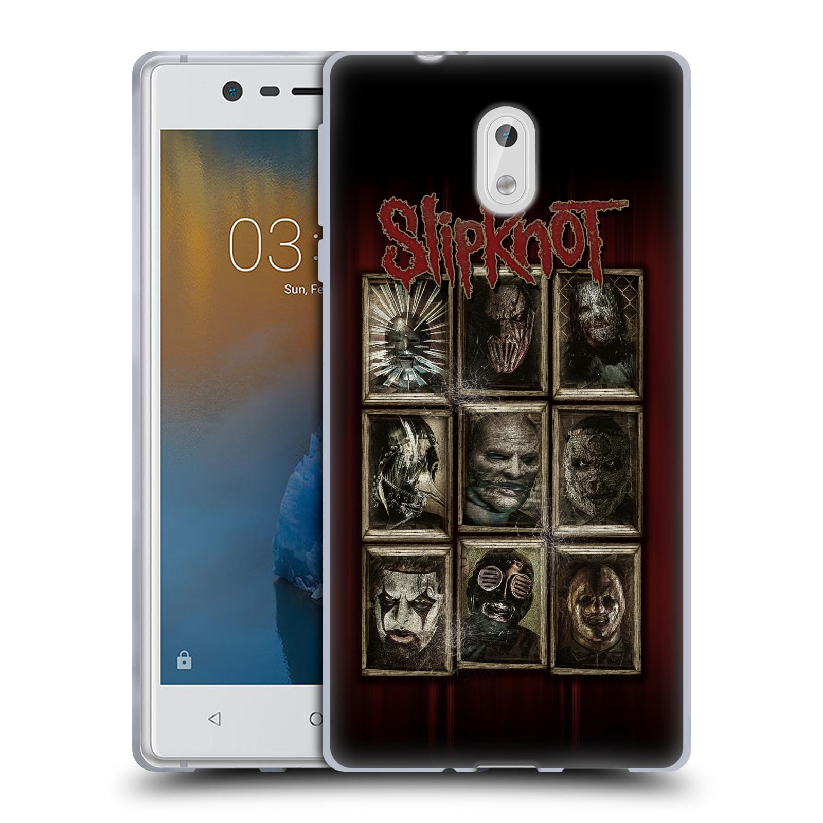 Silikonové pouzdro na mobil Nokia 3 Head Case - Slipknot - Masky (Silikonový kryt či obal na mobilní telefon licencovaným motivem Slipknot pro Nokia 3 (2017))