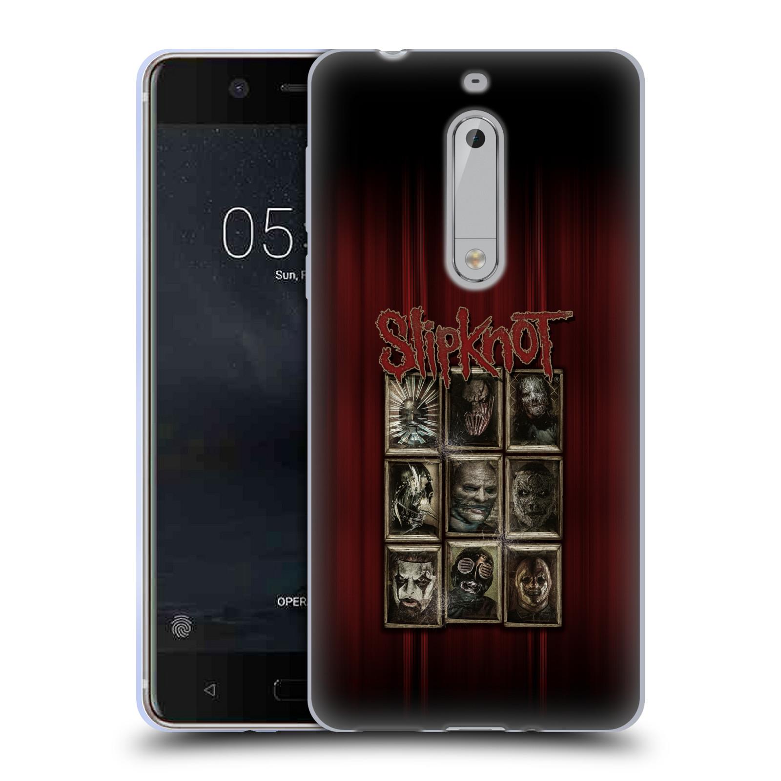 Silikonové pouzdro na mobil Nokia 5 Head Case - Slipknot - Masky (Silikonový kryt či obal na mobilní telefon licencovaným motivem Slipknot pro Nokia 5 (2017))