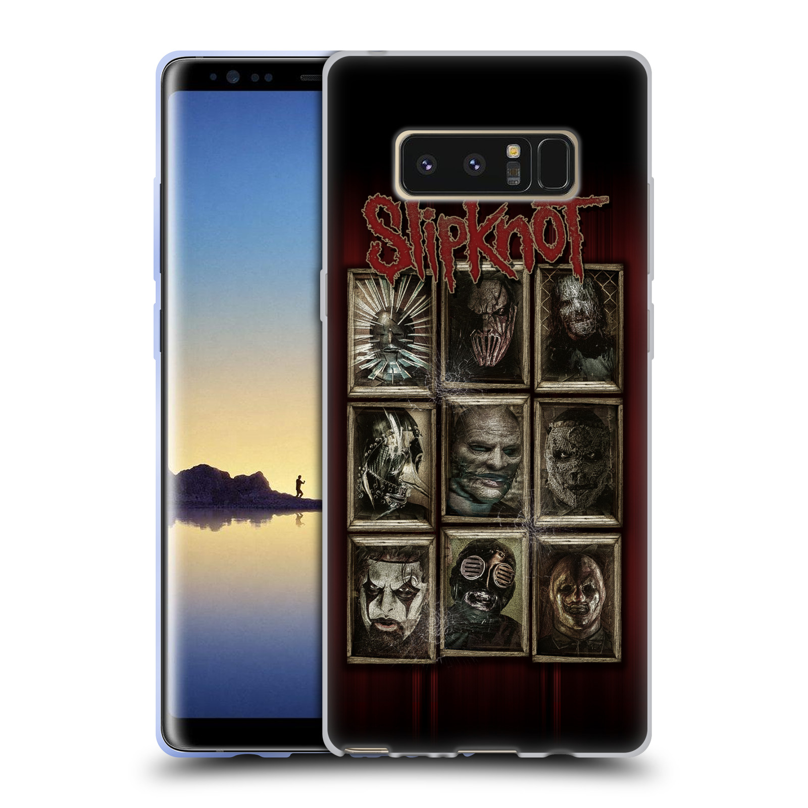 Silikonové pouzdro na mobil Samsung Galaxy Note 8 - Head Case - Slipknot - Masky (Silikonový kryt či obal na mobilní telefon Samsung Galaxy Note 8 SM-N950 s motivem Slipknot - Masky)