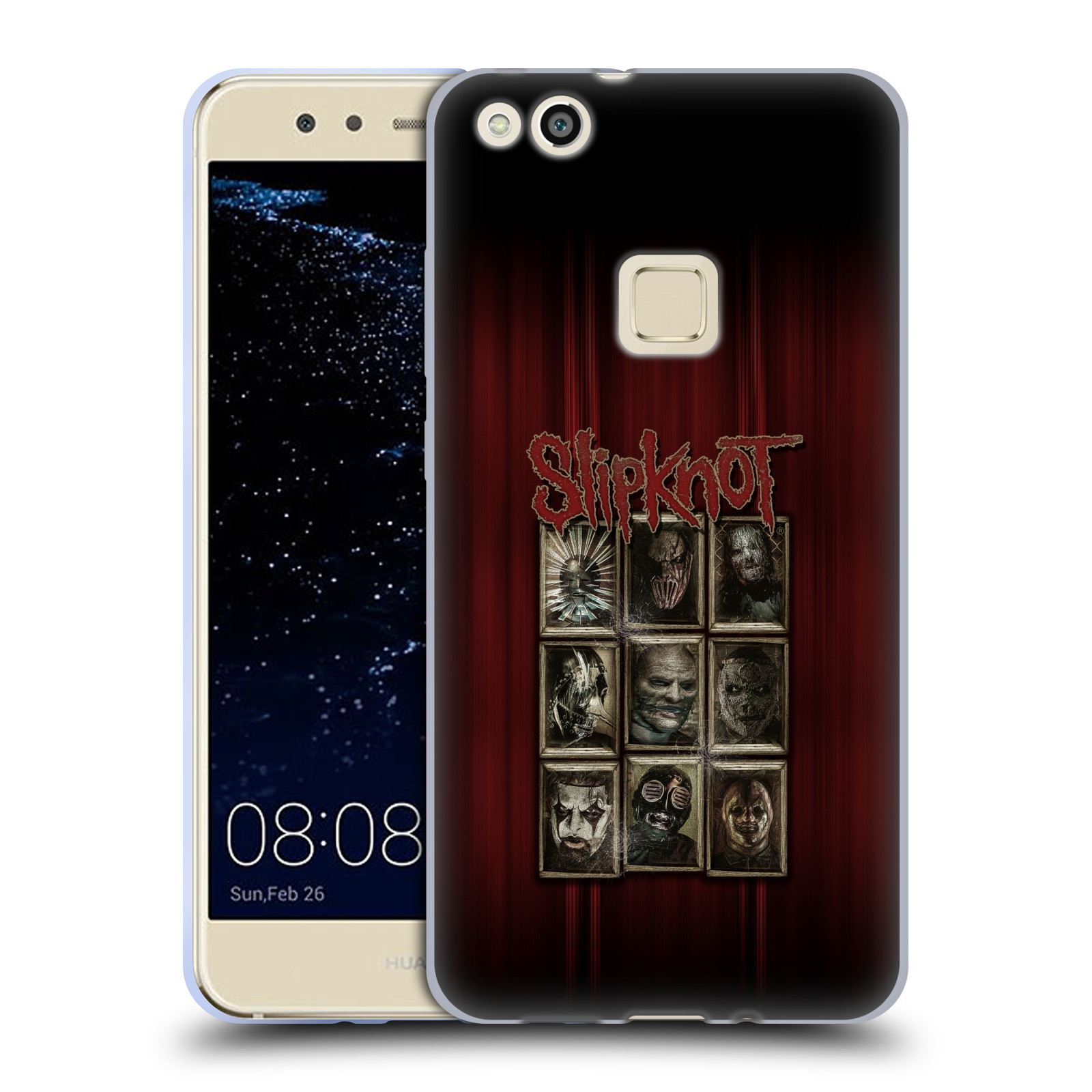 Silikonové pouzdro na mobil Huawei P10 Lite Head Case - Slipknot - Masky (Silikonový kryt či obal na mobilní telefon licencovaným motivem Slipknot pro Huawei P10 Lite Dual SIM (LX1/LX1A))