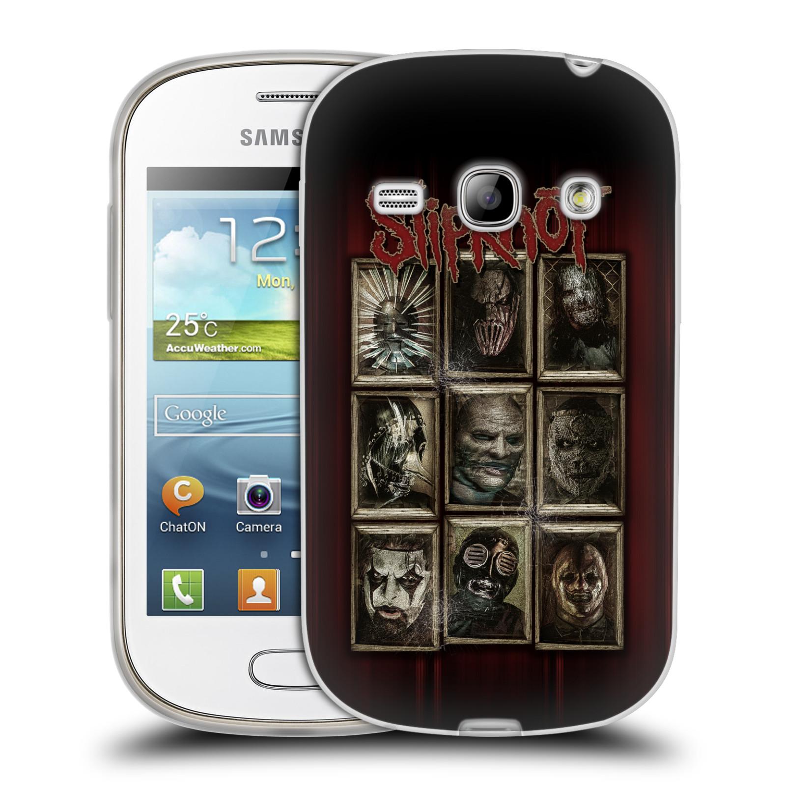 Silikonové pouzdro na mobil Samsung Galaxy Fame HEAD CASE Slipknot - Masky (Silikonový kryt či obal na mobilní telefon licencovaným motivem Slipknot pro Samsung Galaxy Fame GT-S6810)