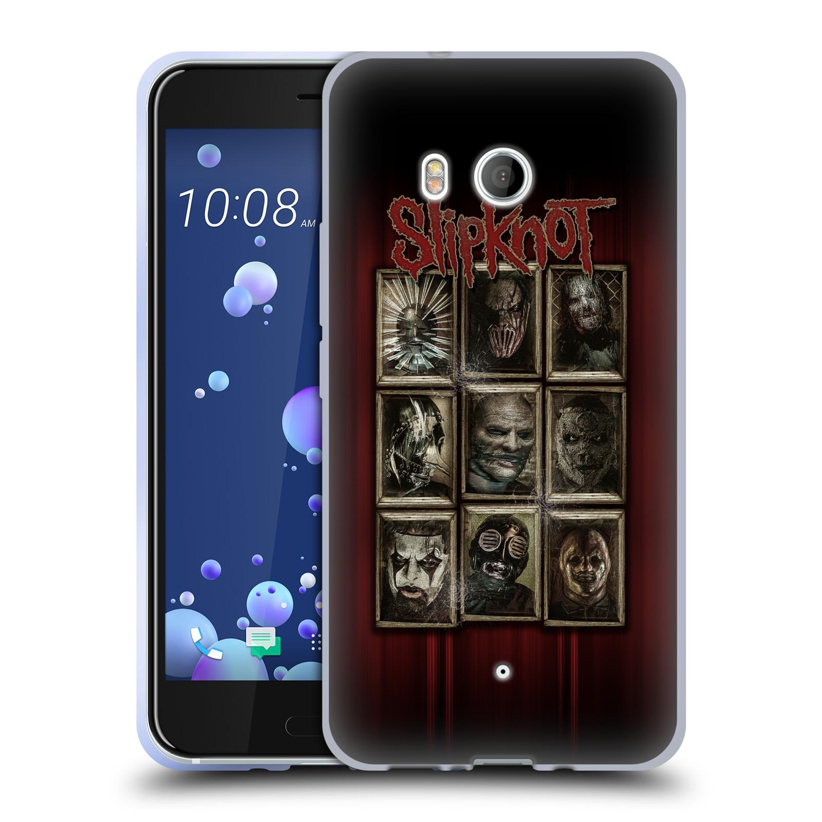 Silikonové pouzdro na mobil HTC U11 - Head Case - Slipknot - Masky (Silikonový kryt či obal na mobilní telefon HTC U11 s motivem Slipknot - Masky)