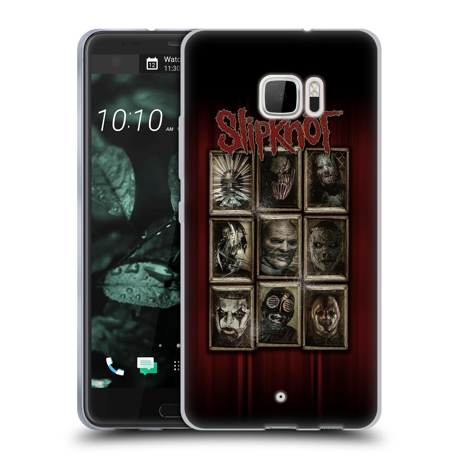 Silikonové pouzdro na mobil HTC U Ultra Head Case - Slipknot - Masky (Silikonový kryt či obal na mobilní telefon licencovaným motivem Slipknot pro HTC U Ultra (99HALT015-00))