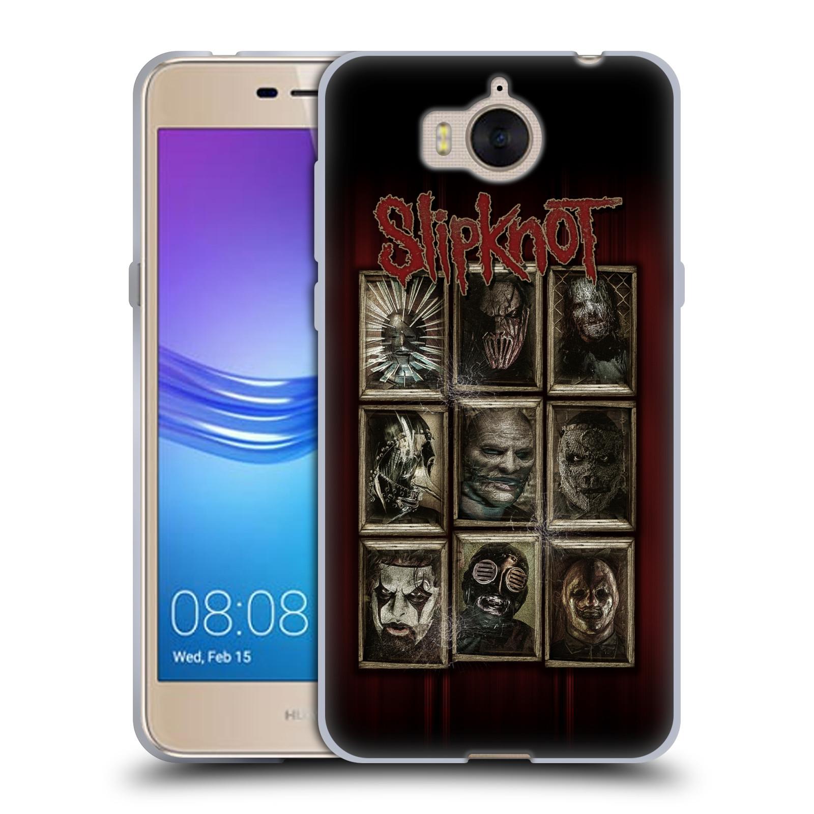 Silikonové pouzdro na mobil Huawei Y6 2017 - Head Case - Slipknot - Masky (Silikonový kryt či obal na mobilní telefon Huawei Y6 (2017) s motivem Slipknot - Masky)