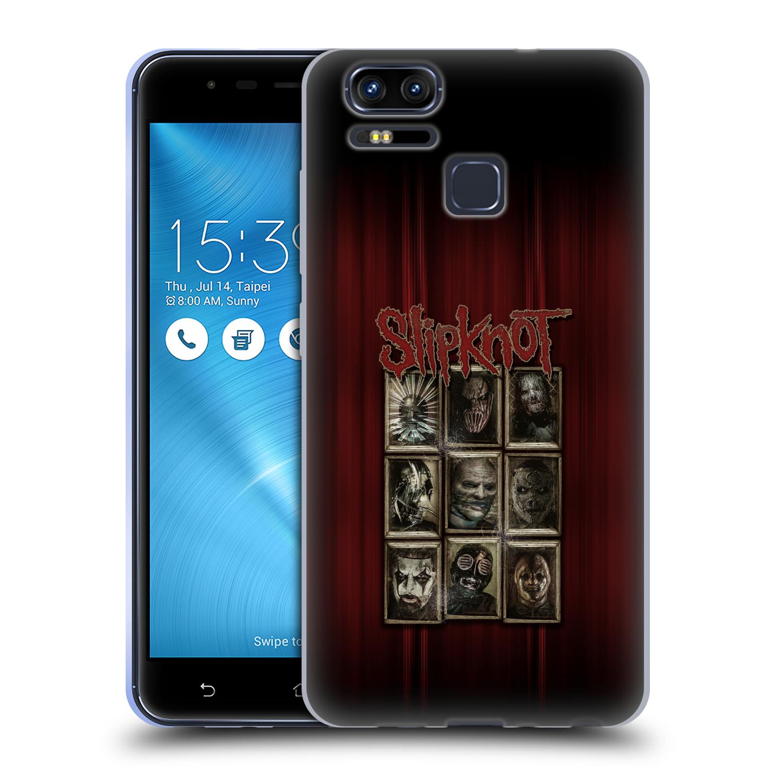 Silikonové pouzdro na mobil Asus ZenFone 3 ZOOM ZE553KL - Head Case - Slipknot - Masky (Silikonový kryt či obal na mobilní telefon Asus ZenFone 3 ZOOM ZE553KL s motivem Slipknot - Masky)