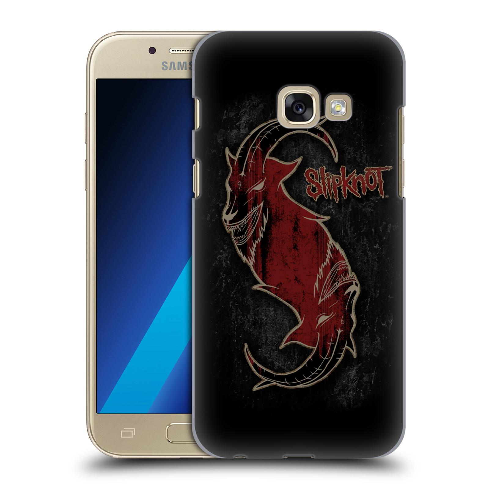 Plastové pouzdro na mobil Samsung Galaxy A3 (2017) HEAD CASE Slipknot - Rudý kozel