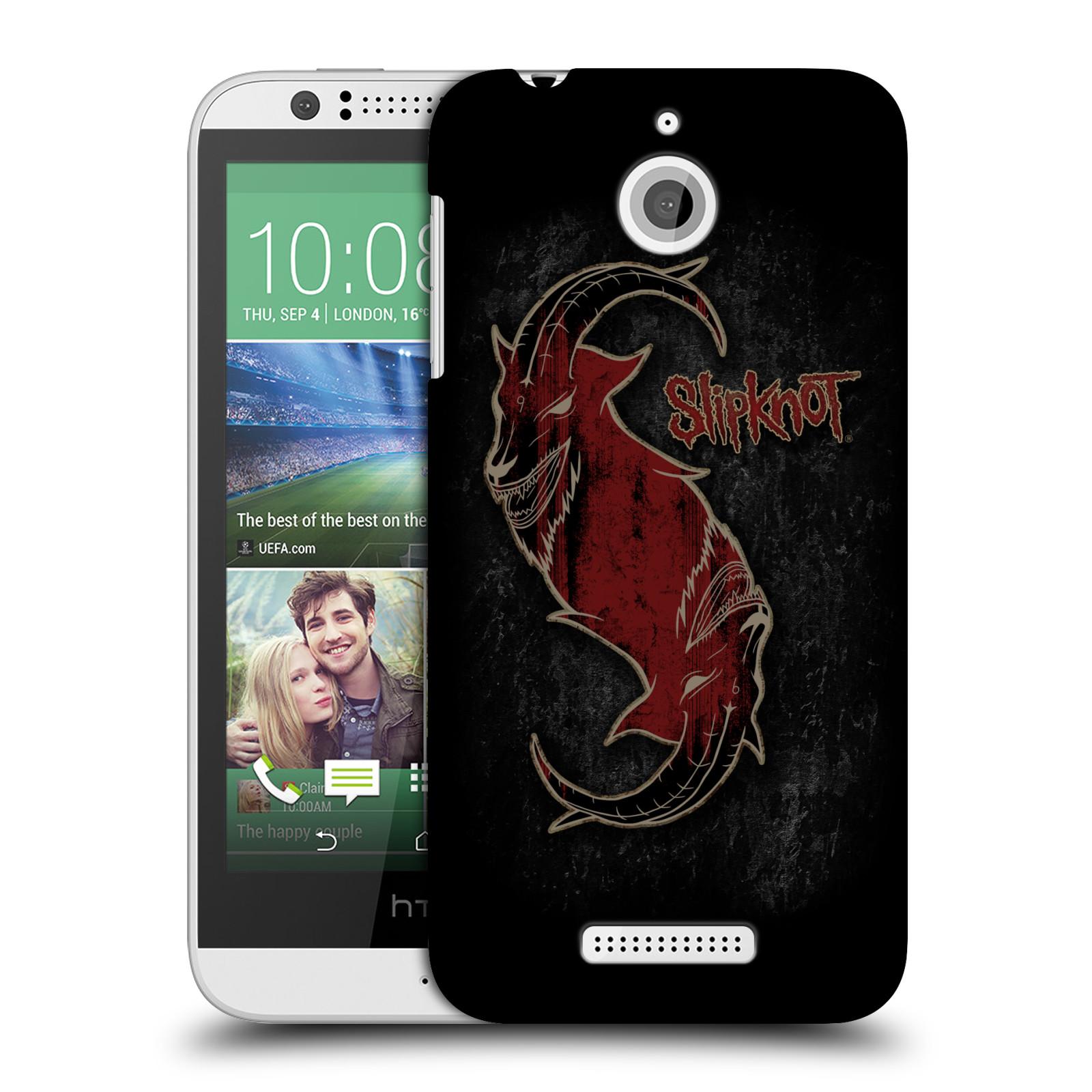 Plastové pouzdro na mobil HTC Desire 510 HEAD CASE Slipknot - Rudý kozel