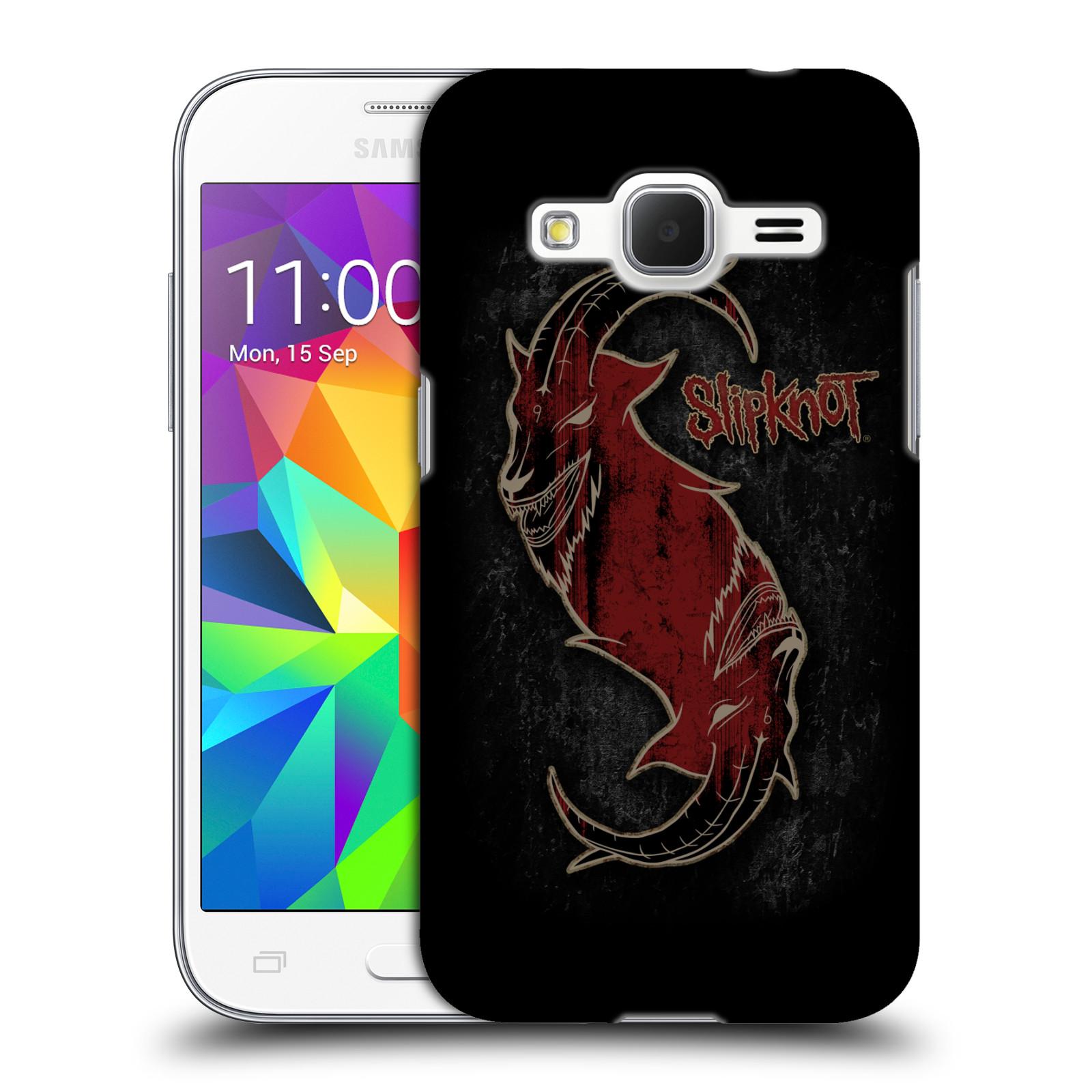 Plastové pouzdro na mobil Samsung Galaxy Core Prime VE HEAD CASE Slipknot - Rudý kozel