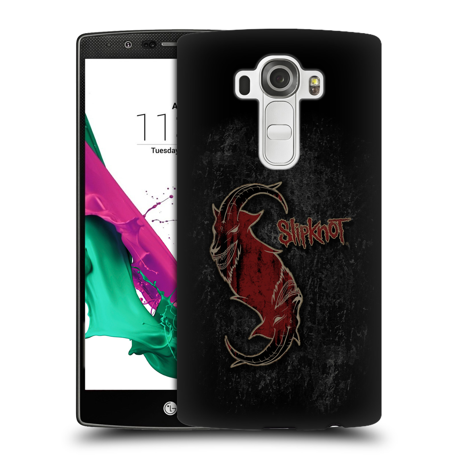 Plastové pouzdro na mobil LG G4 HEAD CASE Slipknot - Rudý kozel