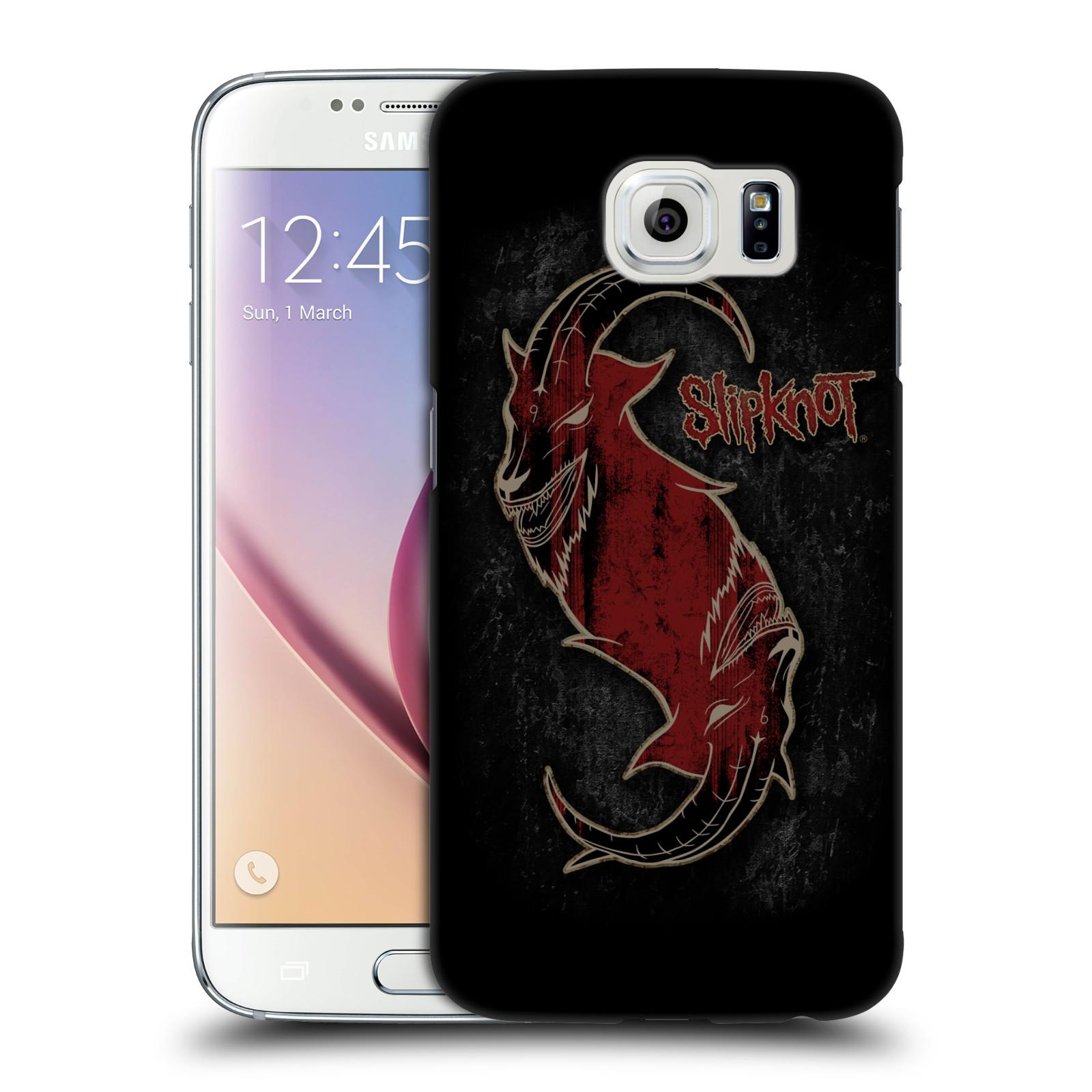 Plastové pouzdro na mobil Samsung Galaxy S6 HEAD CASE Slipknot - Rudý kozel