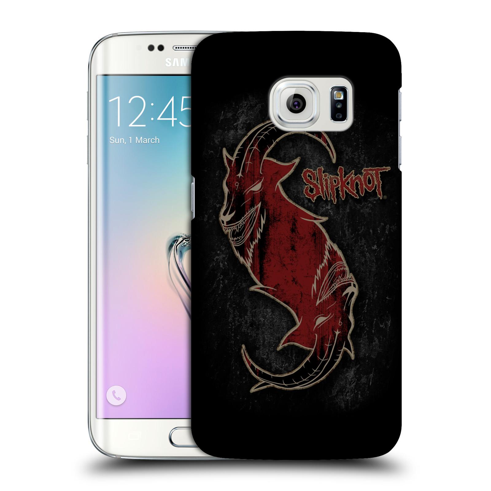 Plastové pouzdro na mobil Samsung Galaxy S6 Edge HEAD CASE Slipknot - Rudý kozel