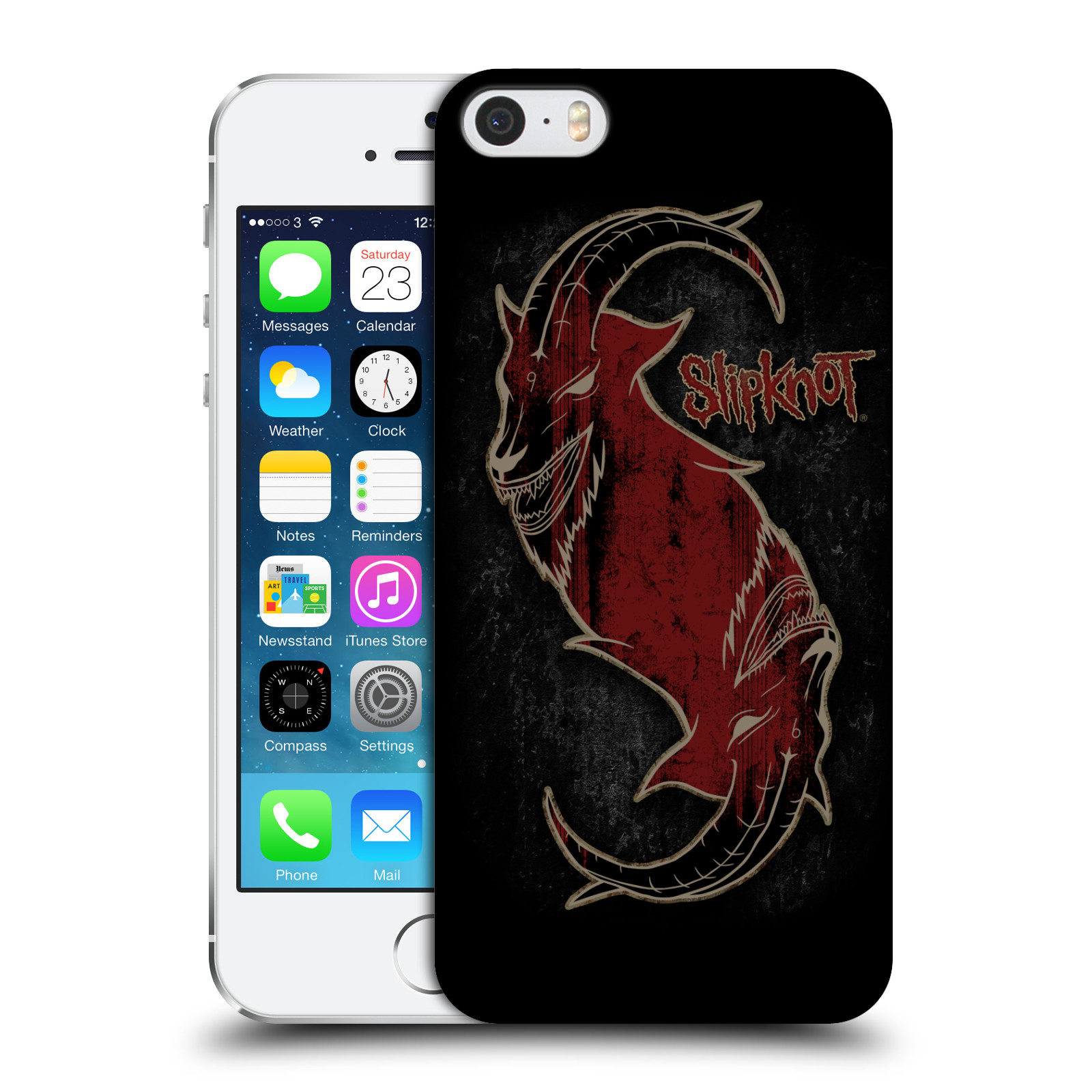 Plastové pouzdro na mobil Apple iPhone SE, 5 a 5S HEAD CASE Slipknot - Rudý kozel