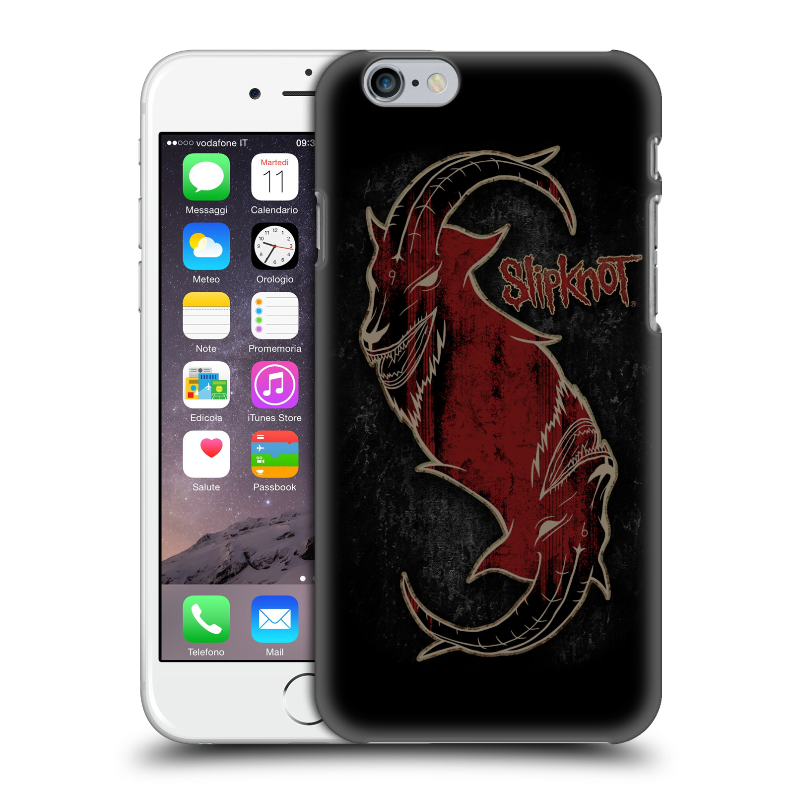 Plastové pouzdro na mobil Apple iPhone 6 HEAD CASE Slipknot - Rudý kozel