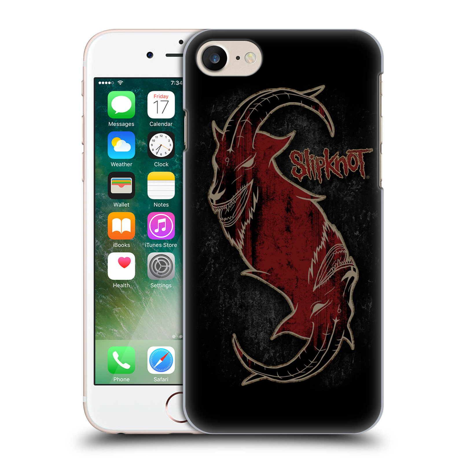 Plastové pouzdro na mobil Apple iPhone 7 HEAD CASE Slipknot - Rudý kozel