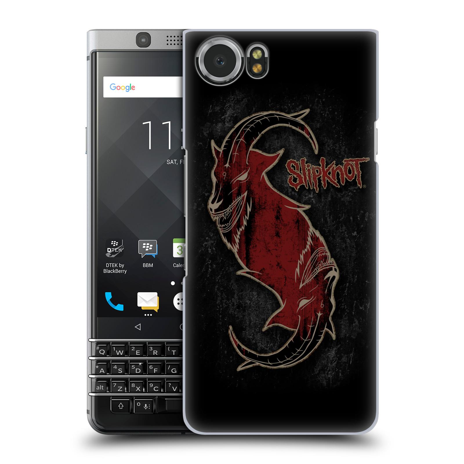 Plastové pouzdro na mobil BlackBerry KEYone - Head Case - Slipknot - Rudý kozel