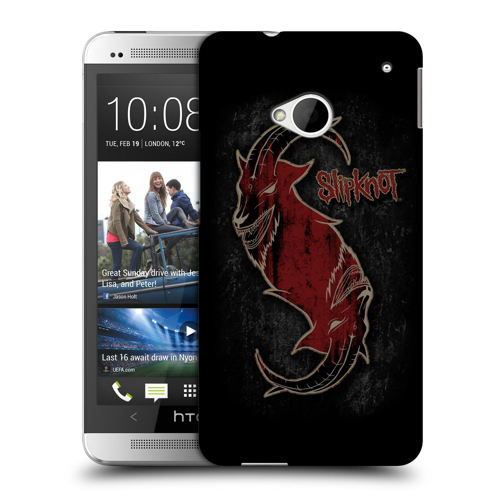 Plastové pouzdro na mobil HTC ONE M7 HEAD CASE Slipknot - Rudý kozel