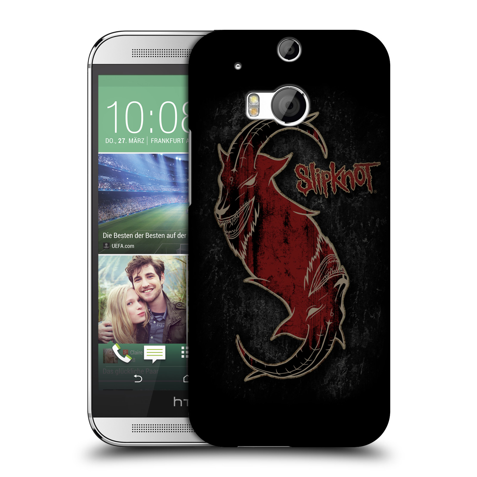 Plastové pouzdro na mobil HTC ONE M8 HEAD CASE Slipknot - Rudý kozel