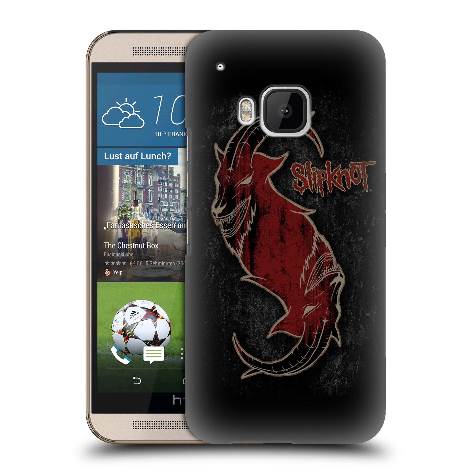 Plastové pouzdro na mobil HTC ONE M9 HEAD CASE Slipknot - Rudý kozel