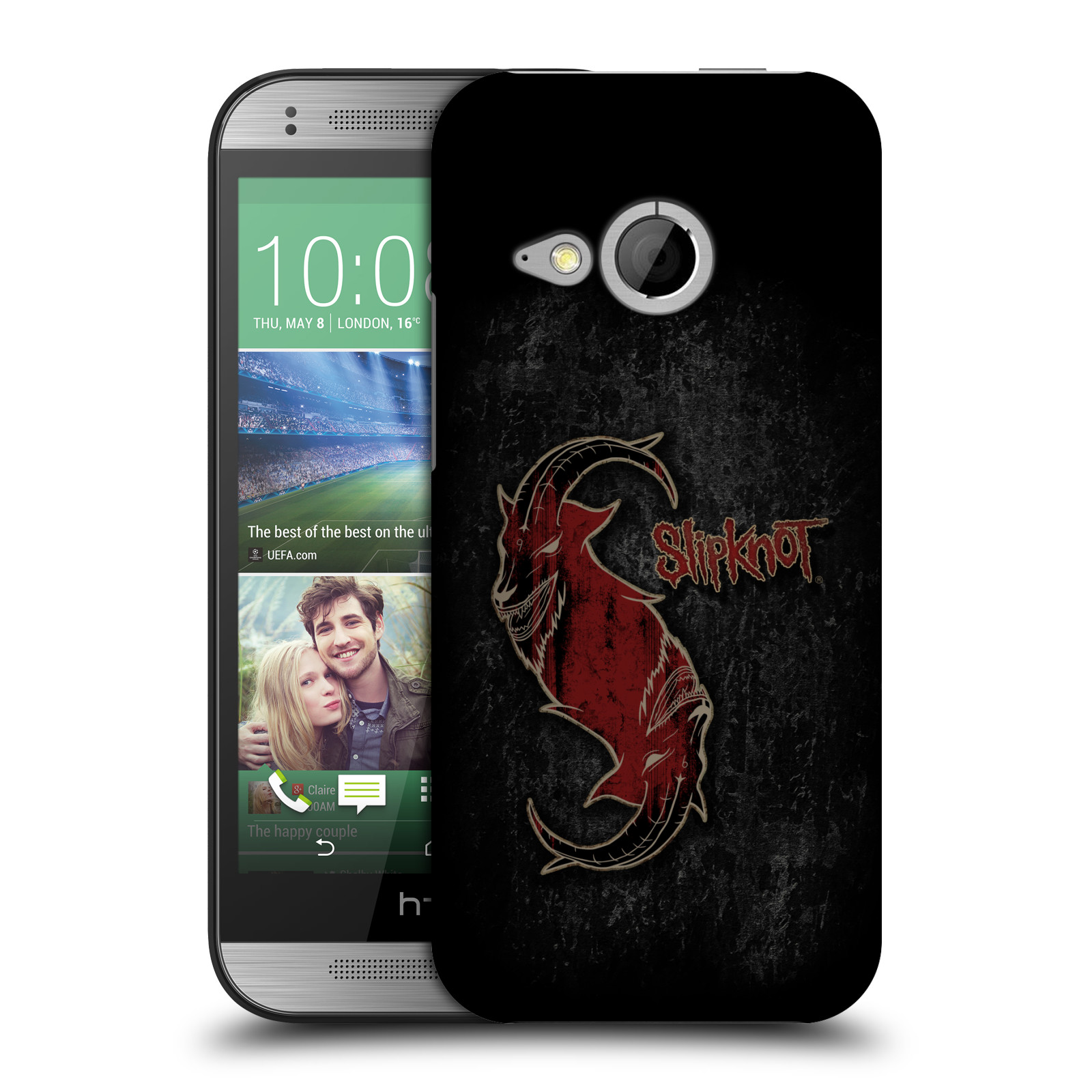 Plastové pouzdro na mobil HTC ONE Mini 2 HEAD CASE Slipknot - Rudý kozel