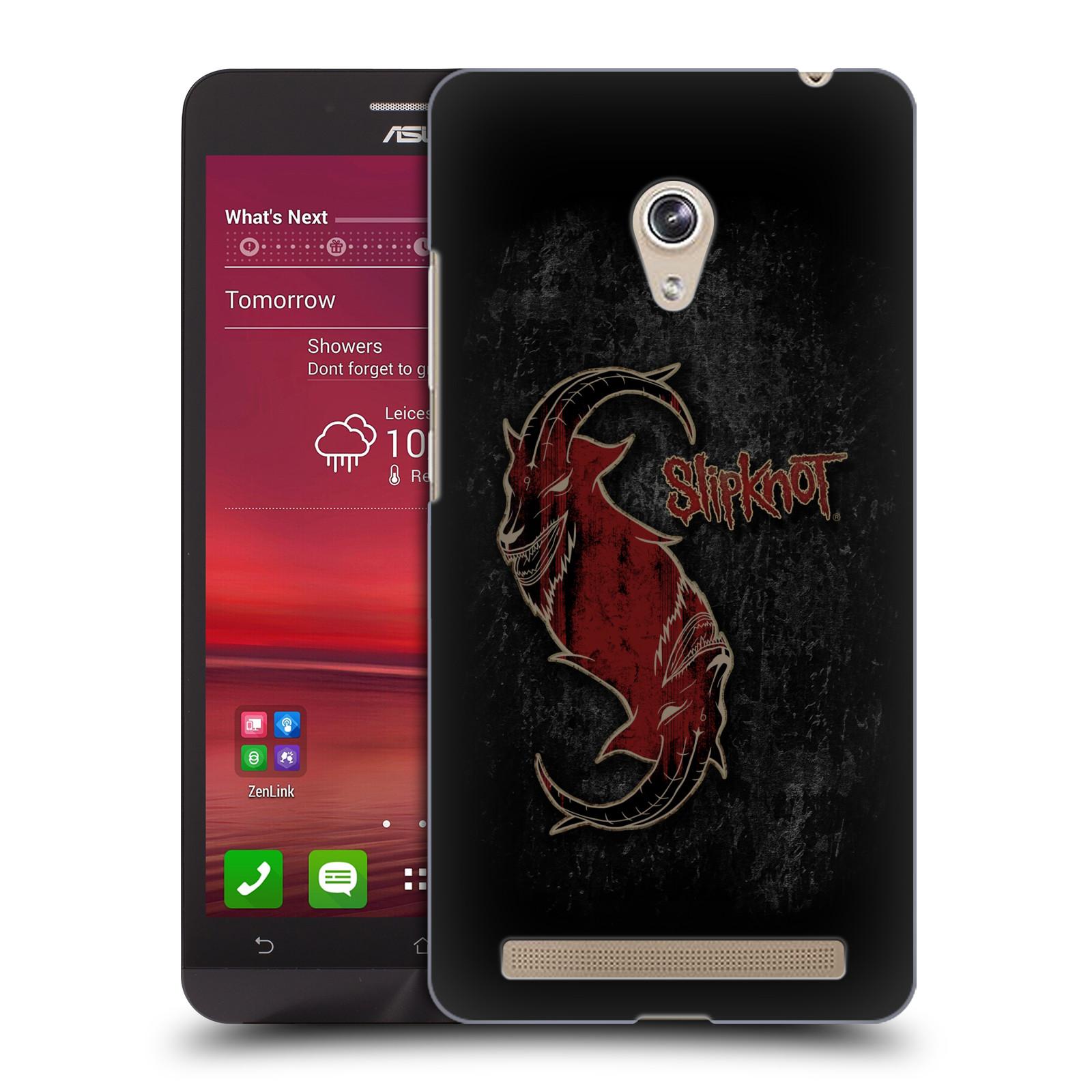 Plastové pouzdro na mobil Asus Zenfone 6 HEAD CASE Slipknot - Rudý kozel (Plastový kryt či obal na mobilní telefon licencovaným motivem Slipknot pro Asus Zenfone 6 A600CG / A601CG)