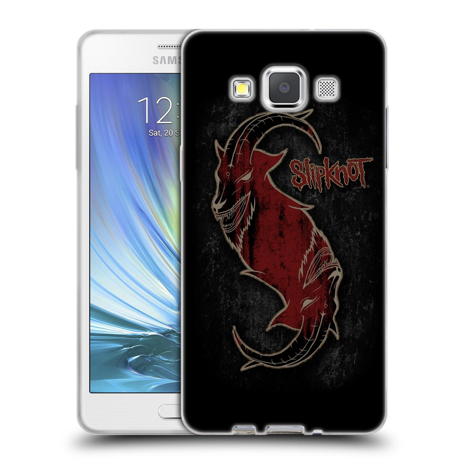 Silikonové pouzdro na mobil Samsung Galaxy A5 HEAD CASE Slipknot - Rudý kozel