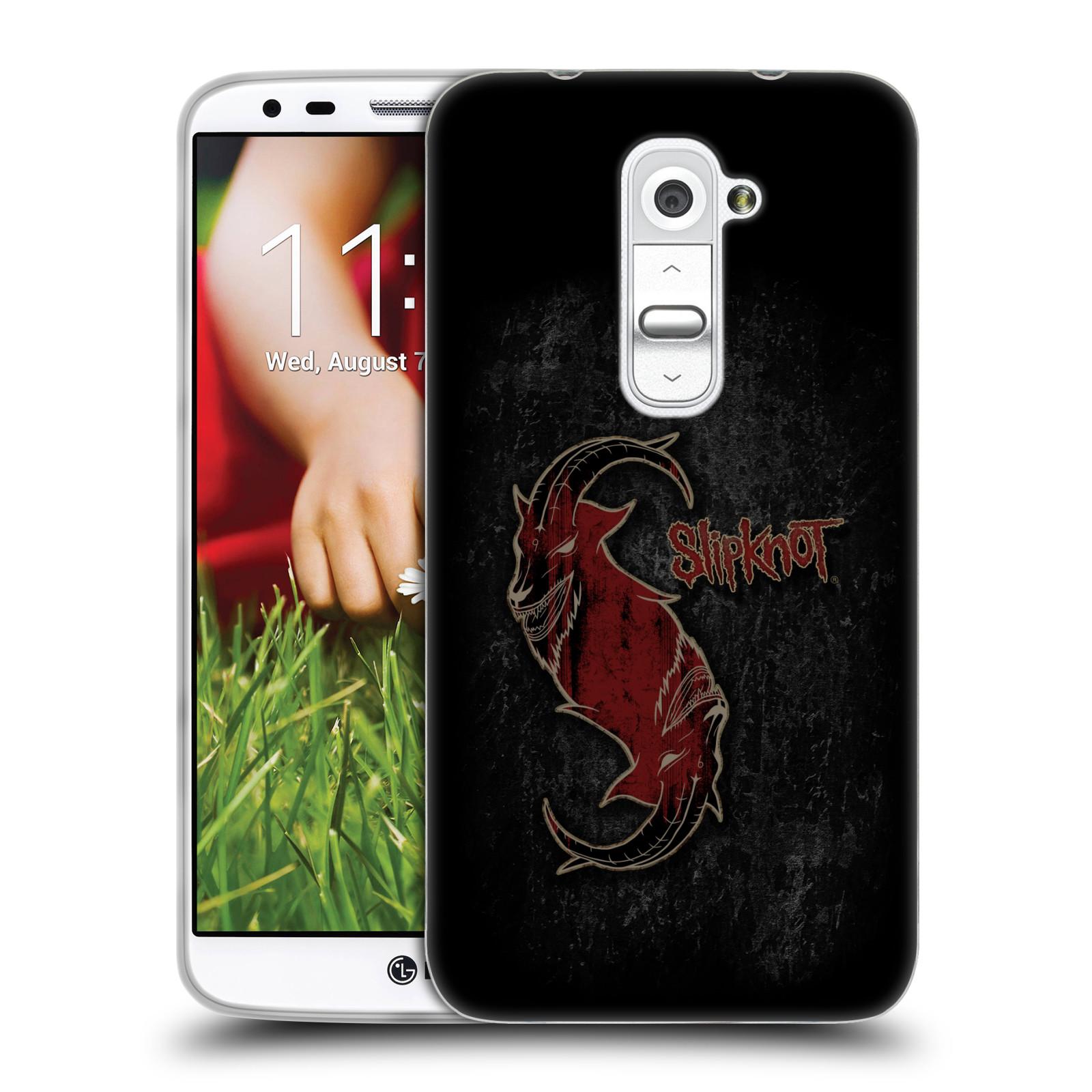 Silikonové pouzdro na mobil HTC LG G2 HEAD CASE Slipknot - Rudý kozel