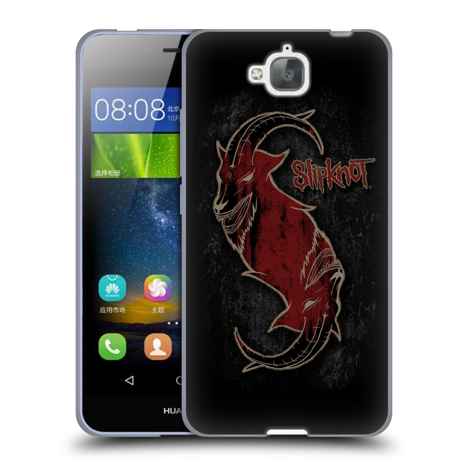 Silikonové pouzdro na mobil Huawei Y6 Pro Dual Sim HEAD CASE Slipknot - Rudý kozel