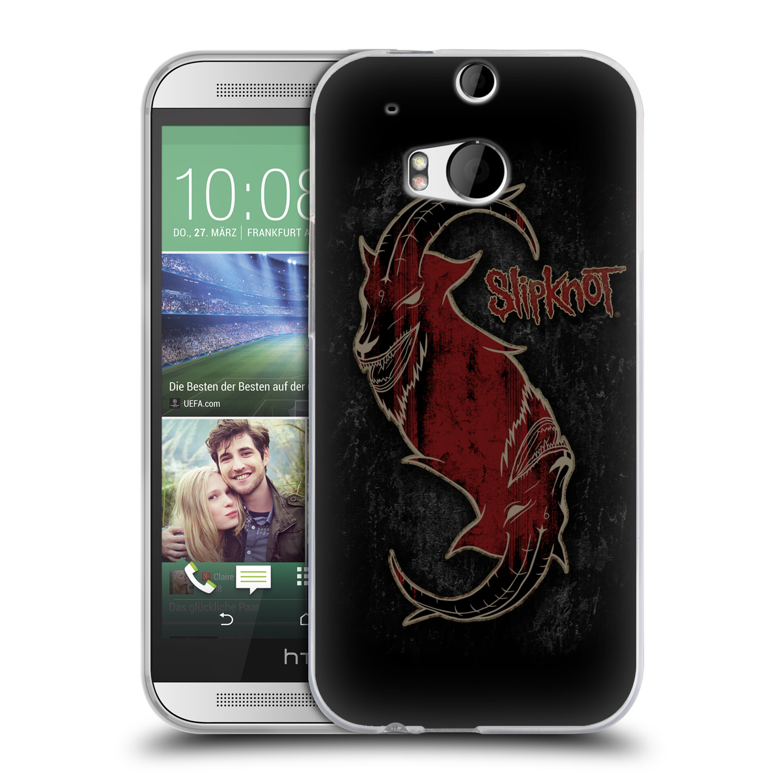 Silikonové pouzdro na mobil HTC ONE M8 HEAD CASE Slipknot - Rudý kozel
