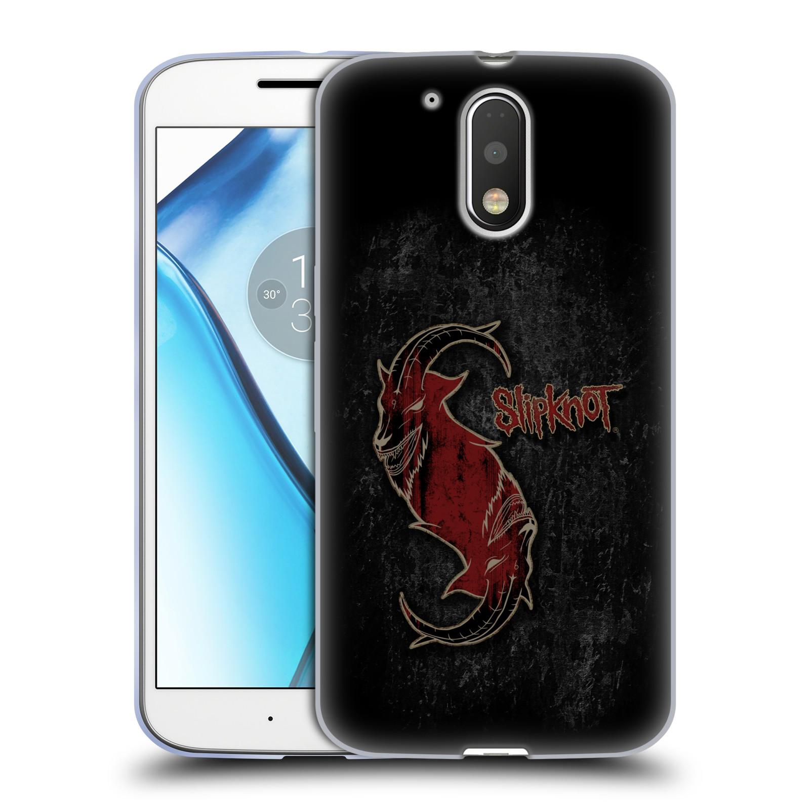 Silikonové pouzdro na mobil Lenovo Moto G4 HEAD CASE Slipknot - Rudý kozel