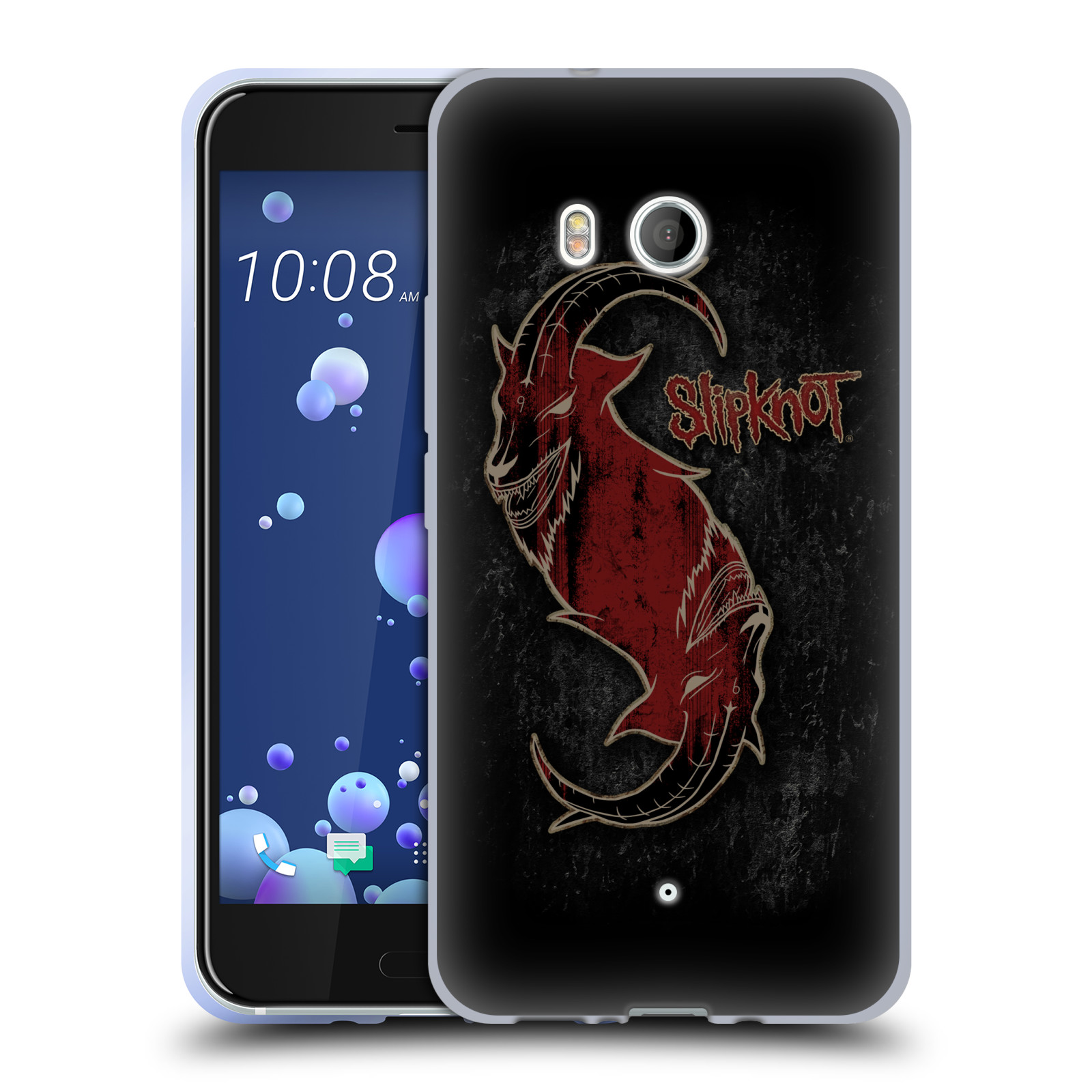 Silikonové pouzdro na mobil HTC U11 - Head Case - Slipknot - Rudý kozel