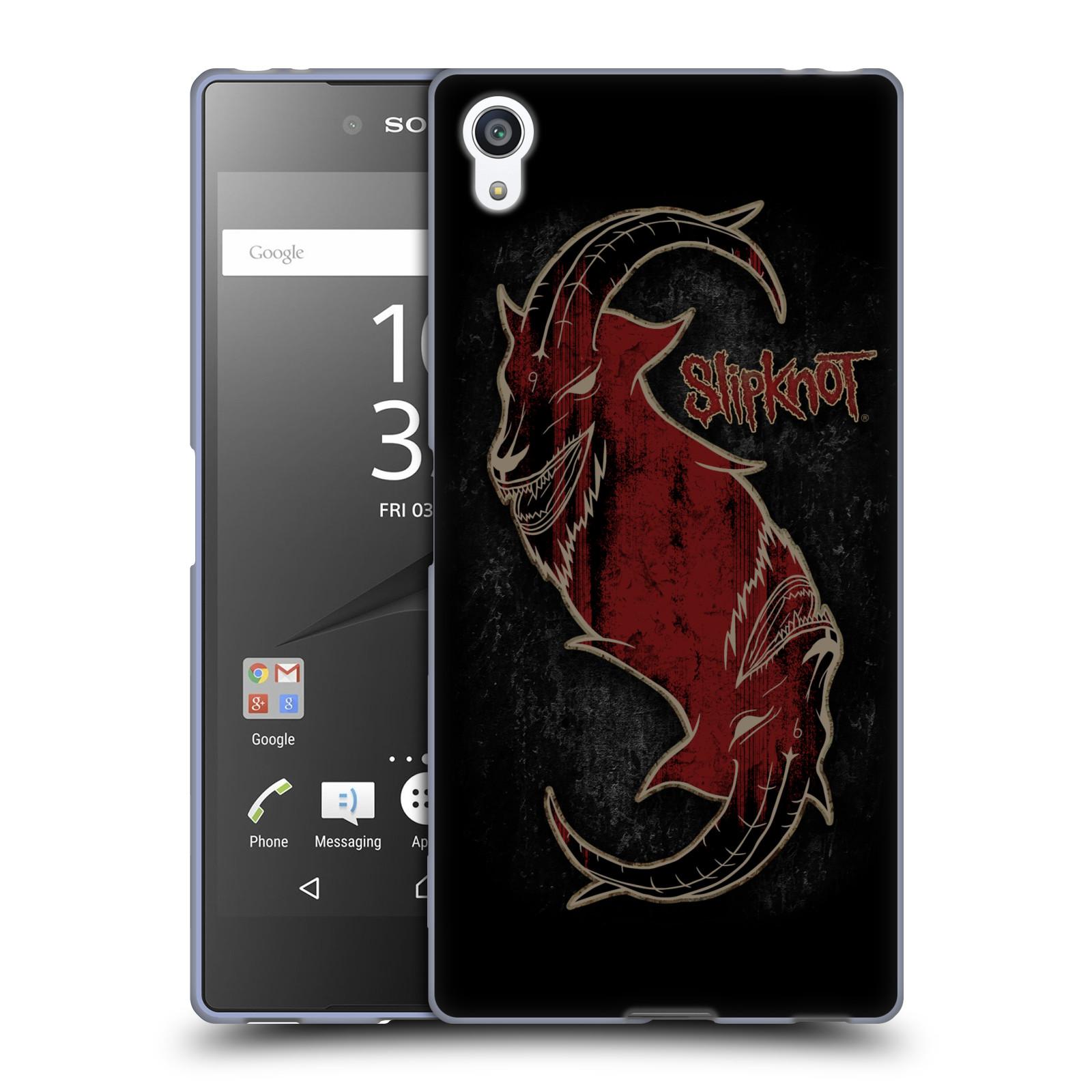Silikonové pouzdro na mobil Sony Xperia Z5 Premium HEAD CASE Slipknot - Rudý kozel