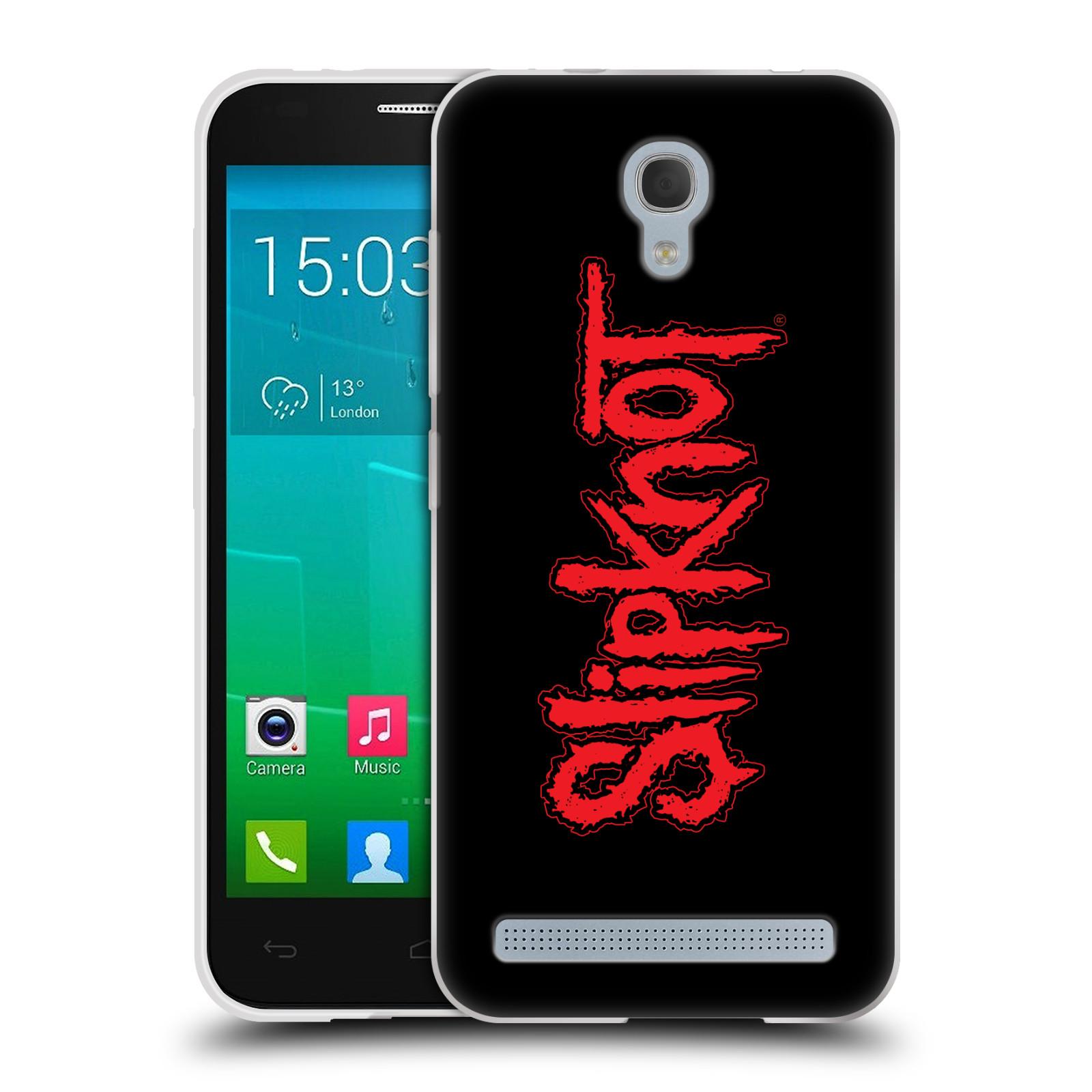 Silikonové pouzdro na mobil Alcatel One Touch Idol 2 Mini S 6036Y HEAD CASE Slipknot - Logo (Silikonový kryt či obal na mobilní telefon licencovaným motivem Slipknot pro Alcatel Idol 2 Mini S OT-6036Y)
