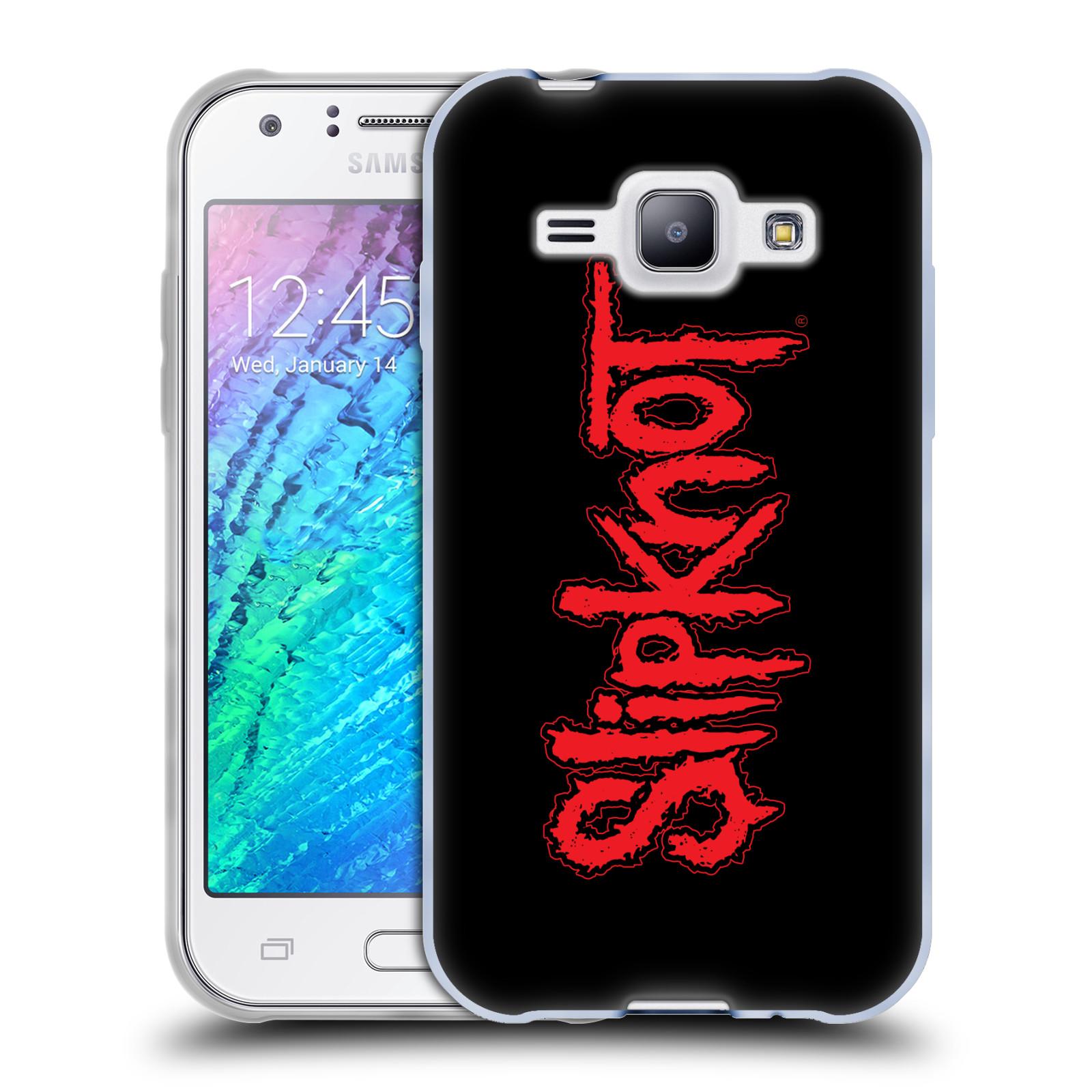 Silikonové pouzdro na mobil Samsung Galaxy J1 HEAD CASE Slipknot - Logo (Silikonový kryt či obal na mobilní telefon licencovaným motivem Slipknot pro Samsung Galaxy J1 a J1 Duos)