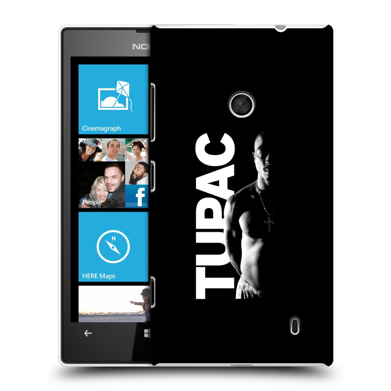 Plastové pouzdro na mobil Nokia Lumia 520 HEAD CASE TUPAC - Black and White