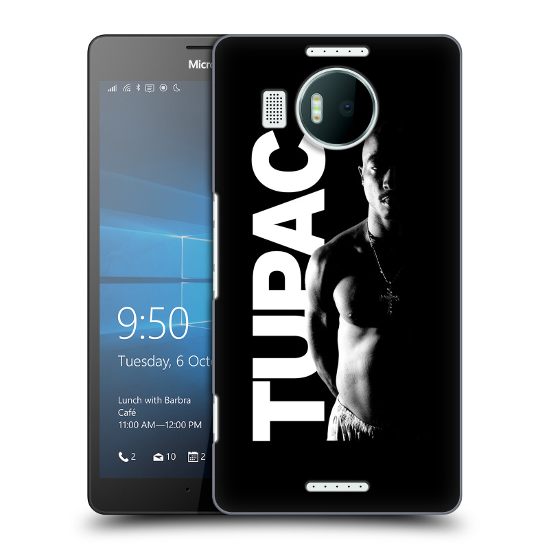 Plastové pouzdro na mobil Microsoft Lumia 950 XL HEAD CASE TUPAC - Black and White