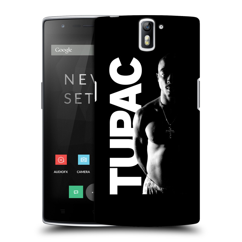 Plastové pouzdro na mobil OnePlus One HEAD CASE TUPAC - Black and White