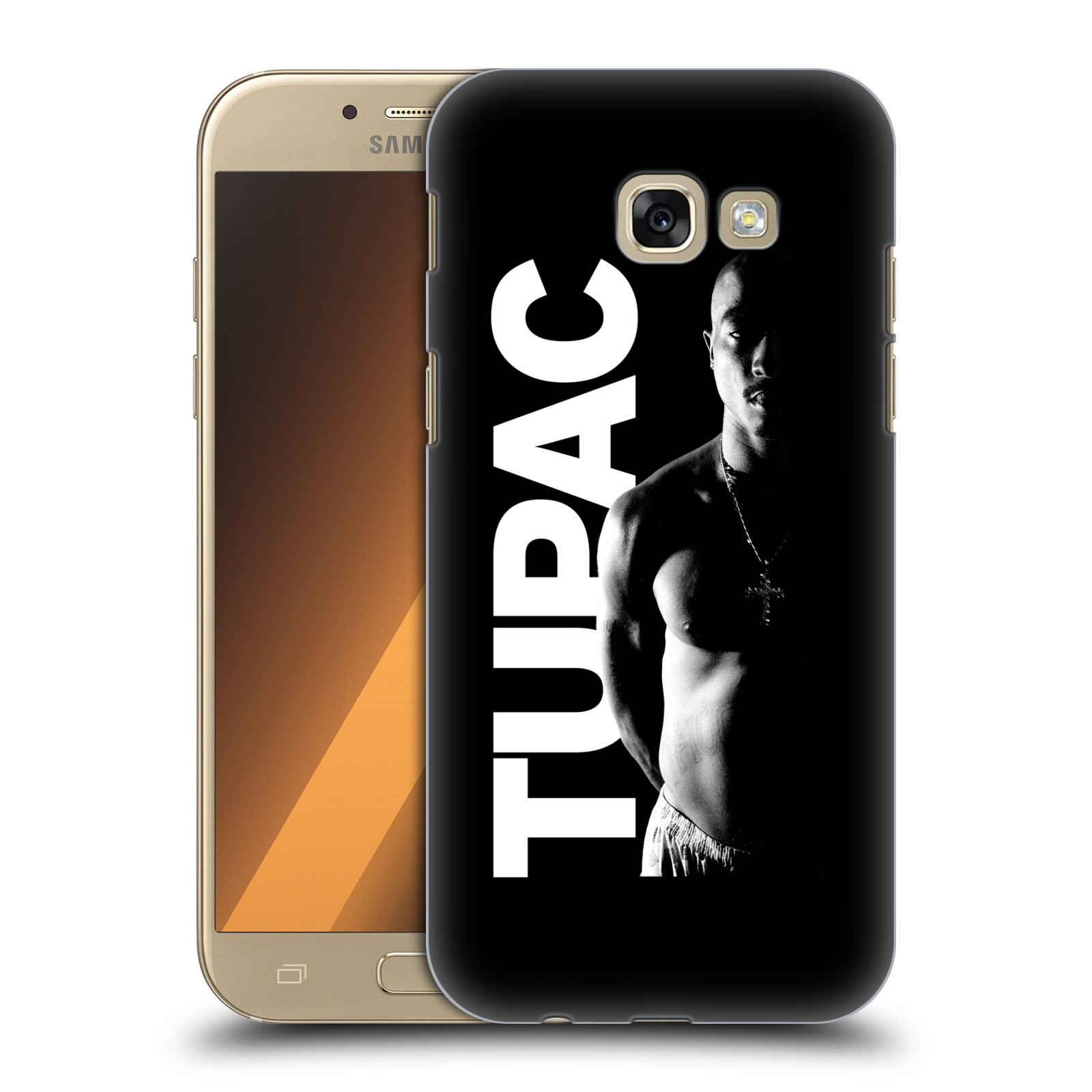 Plastové pouzdro na mobil Samsung Galaxy A5 (2017) HEAD CASE TUPAC - Black and White