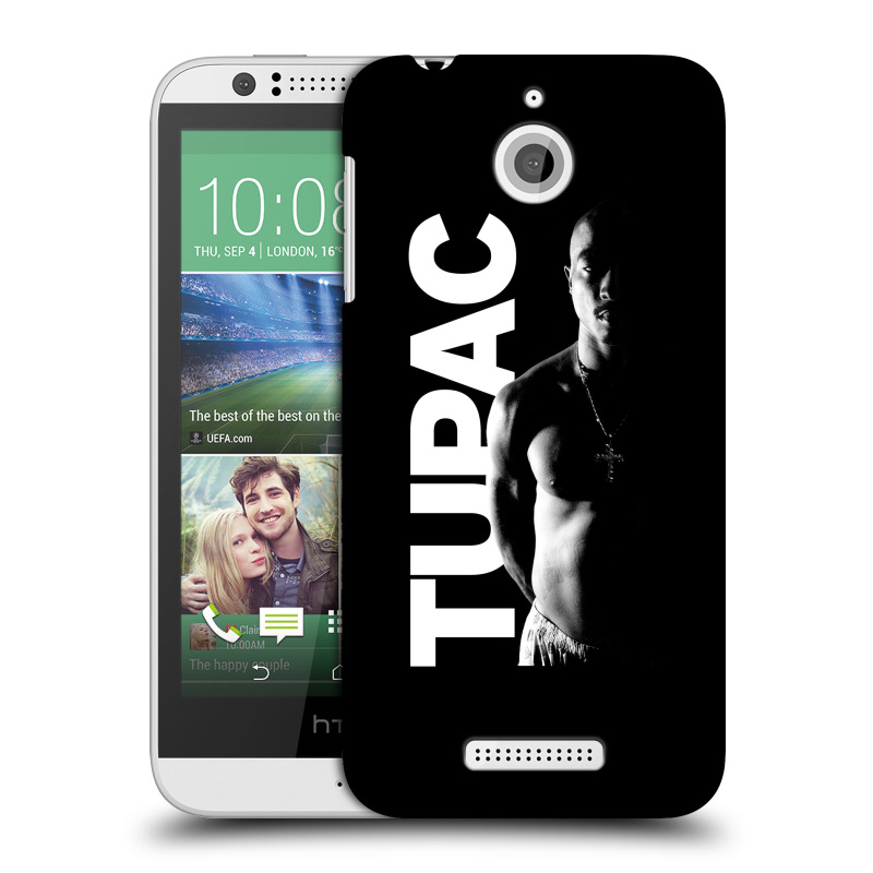 Plastové pouzdro na mobil HTC Desire 510 HEAD CASE TUPAC - Black and White